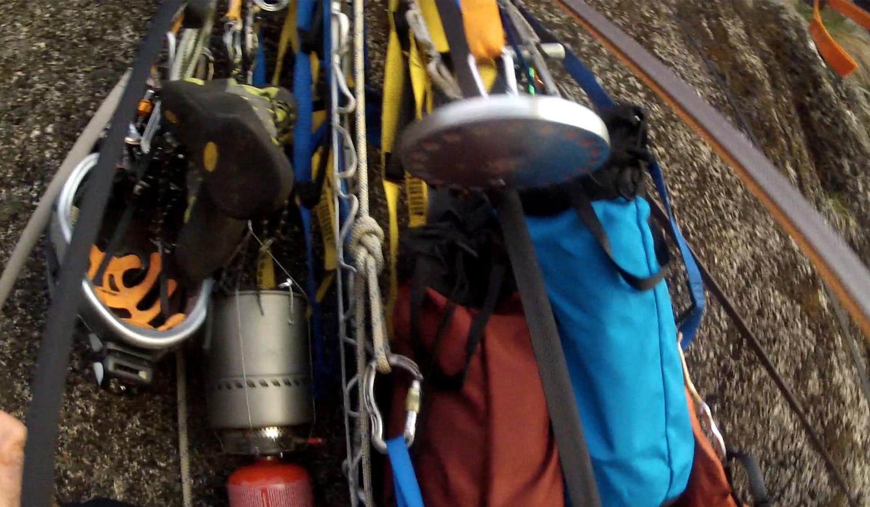 All gear tied in securely.