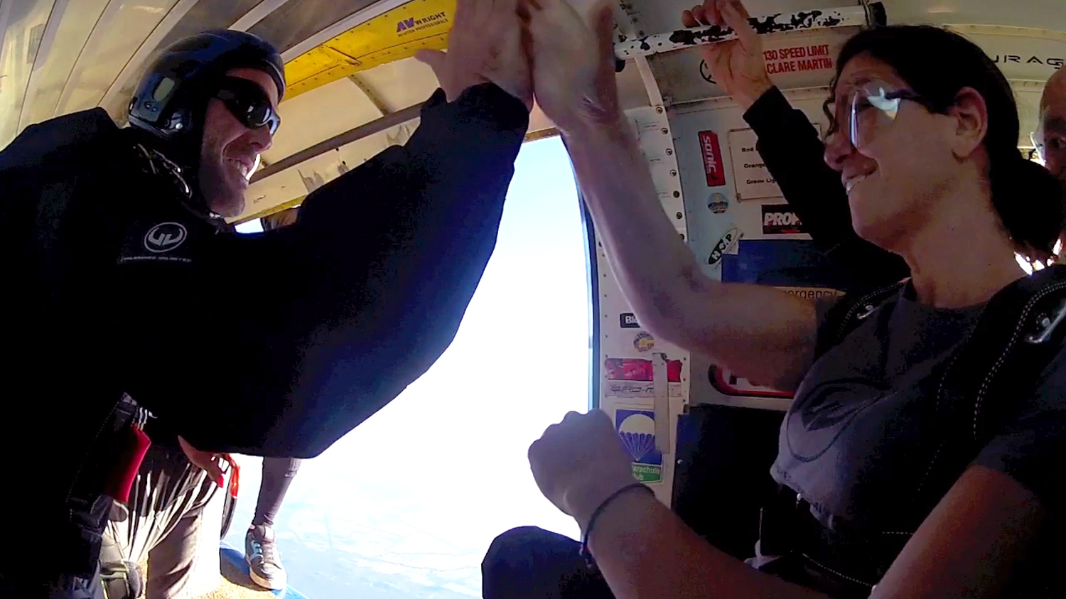 Skydiving High Five