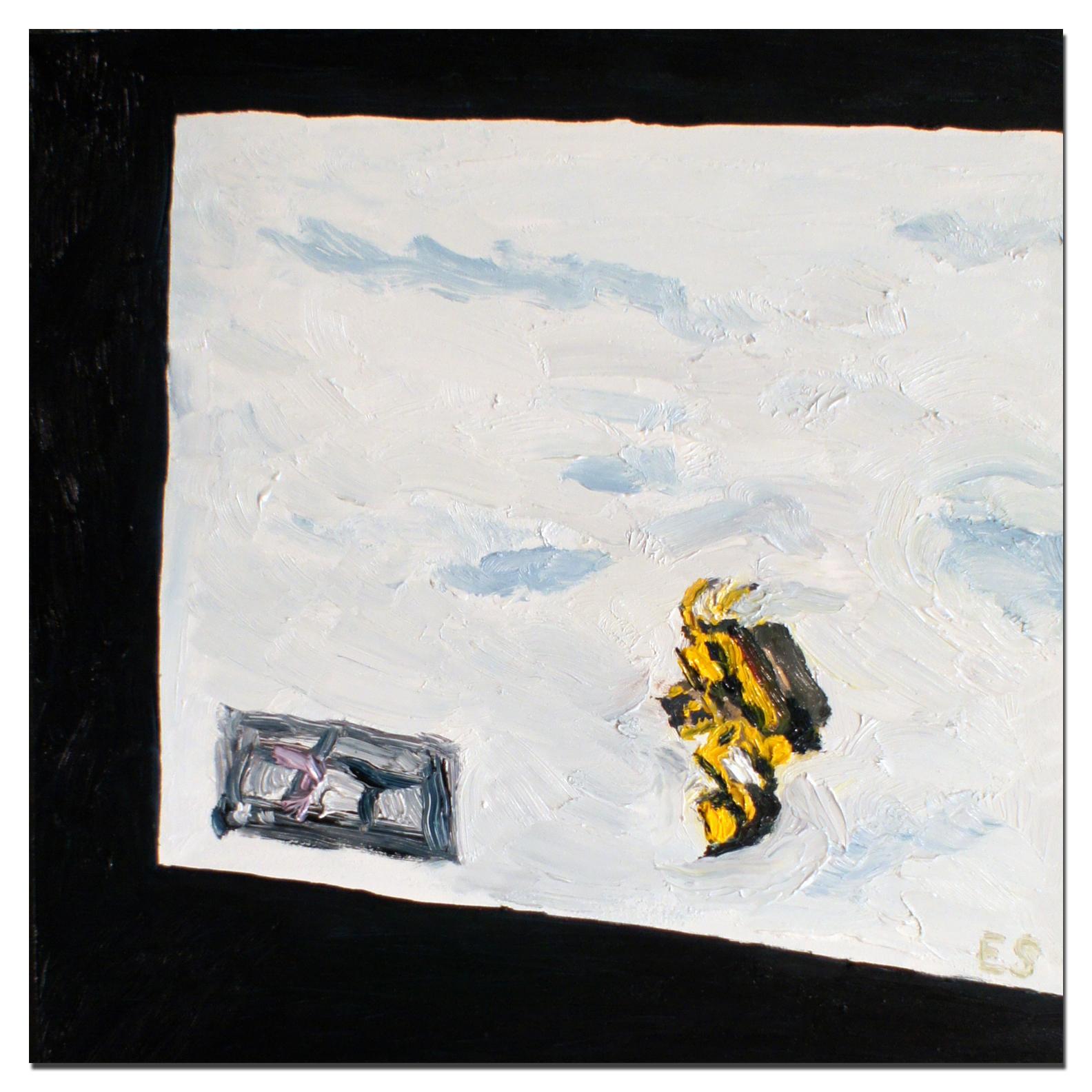 """Erik Sanner,  TheRobberGamer777s """"Ballet et GTAV"""" at 17 Seconds,  oil paint on masonite, 10""""x10"""""""
