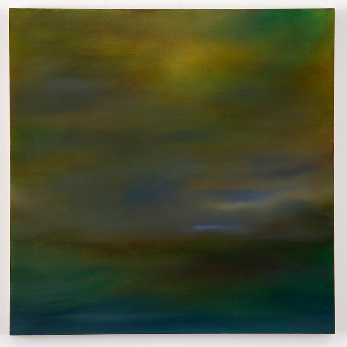 "Sheila Kramer  :   East River #1,   oil paint on panel, 12""x12"""
