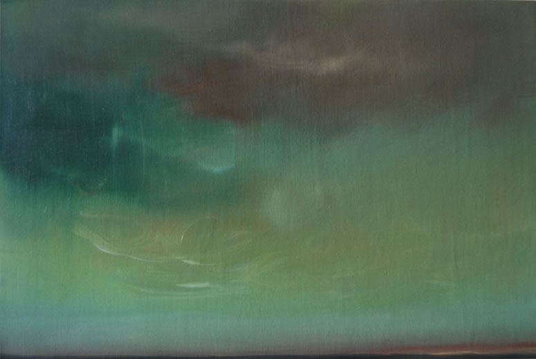 Sheila Kramer,   August Sky 2006  , oil on panel