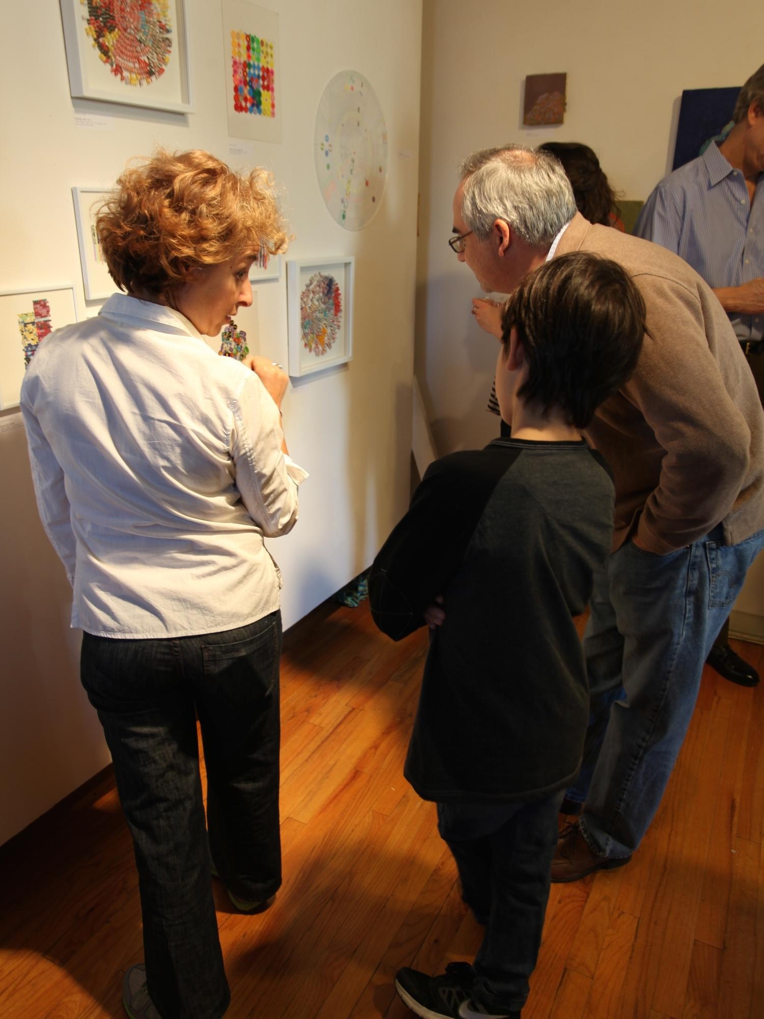 Artist Pauline Galiana discusses her work ( photo courtesy  Ronnie Glenn Photography)