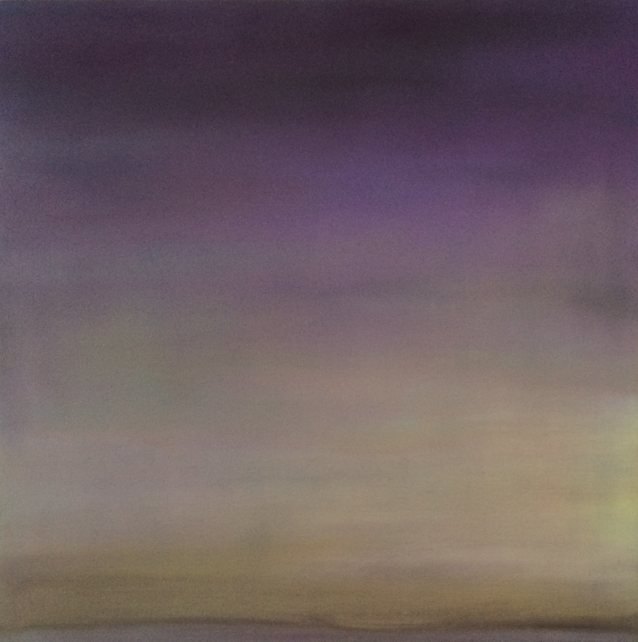 """Violet Light, Montauk,LI.""oil on panel, 16x16"",2005"