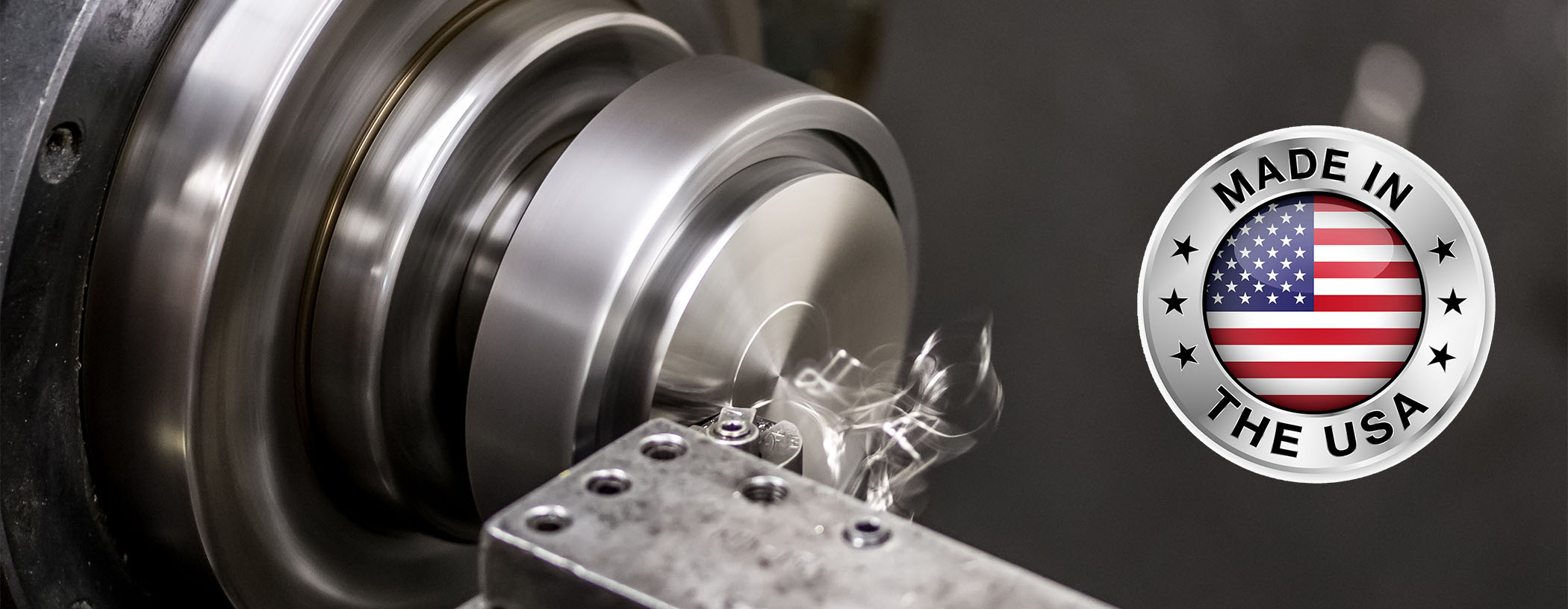 """A stainless steel base being """"faced"""" to be precision flat and clean with a high quality hand finish."""