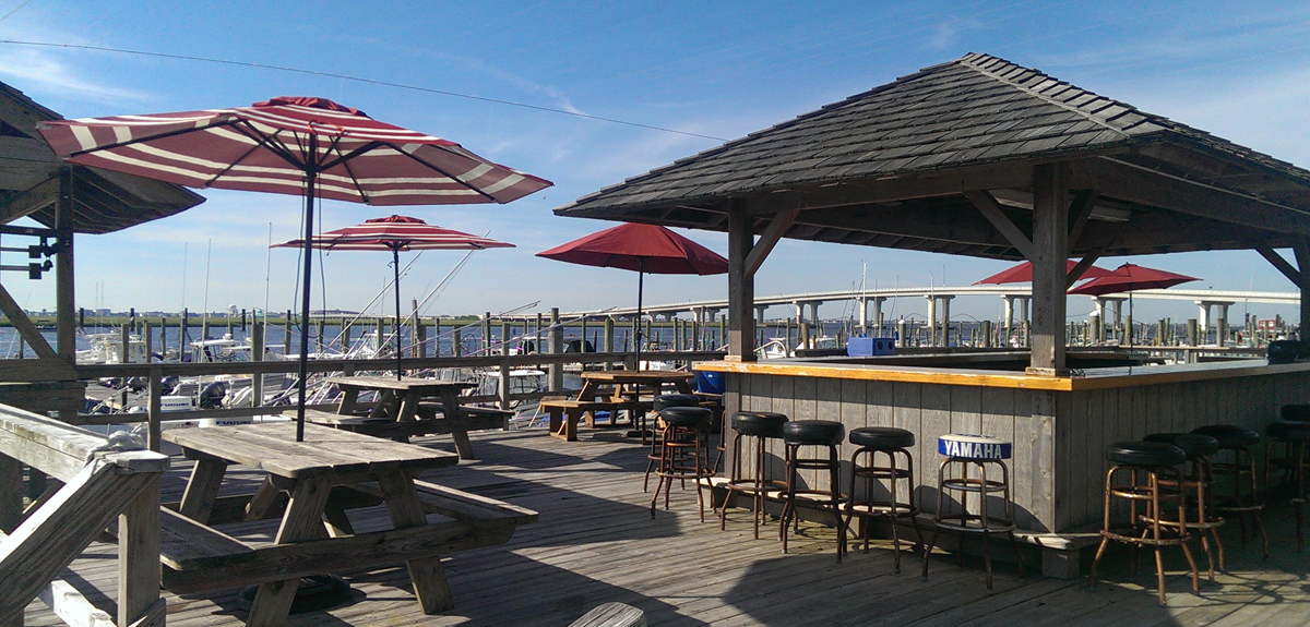 Somers Point Marina Tiki Deck and Picnic area