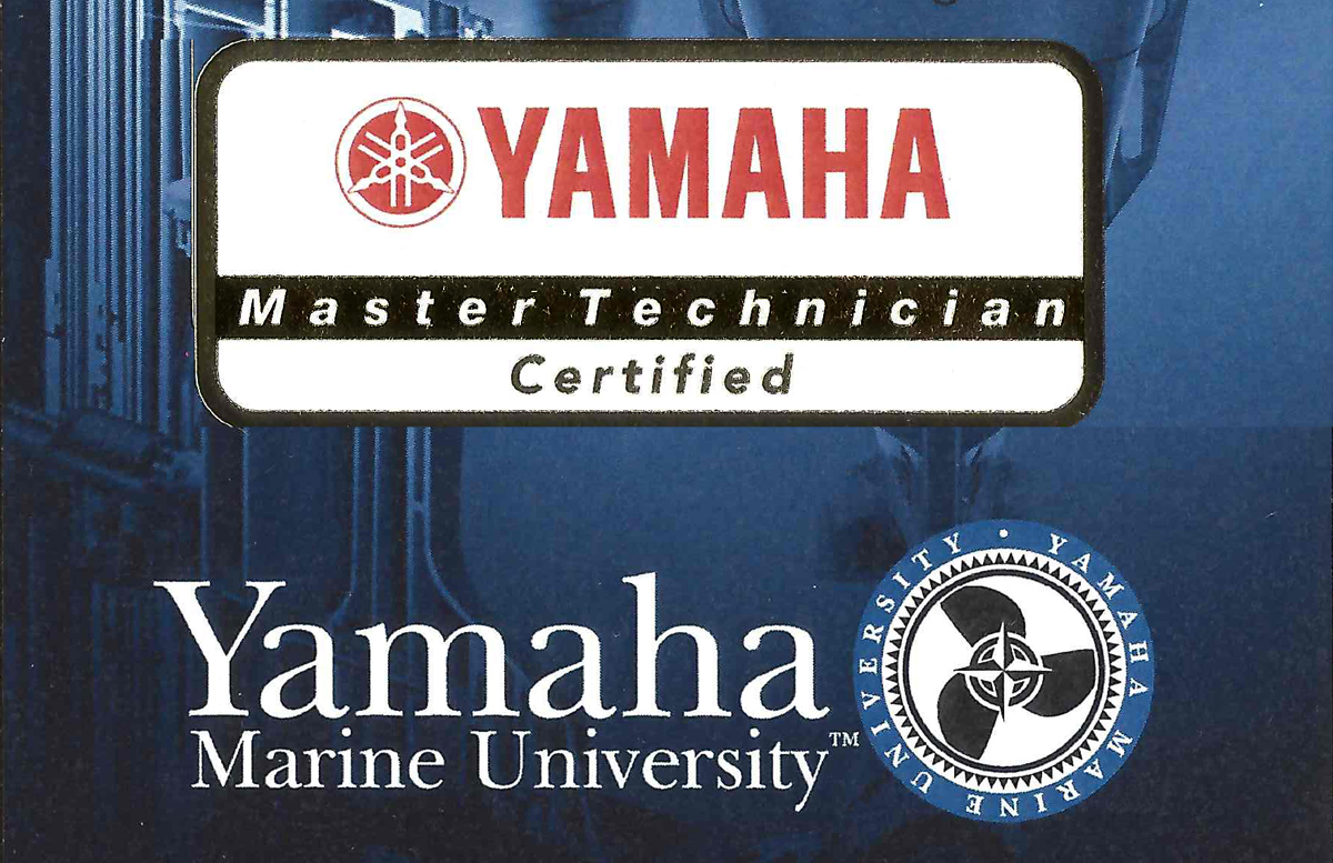 Somers Point Marina is proud to have a Certified Master Technician.