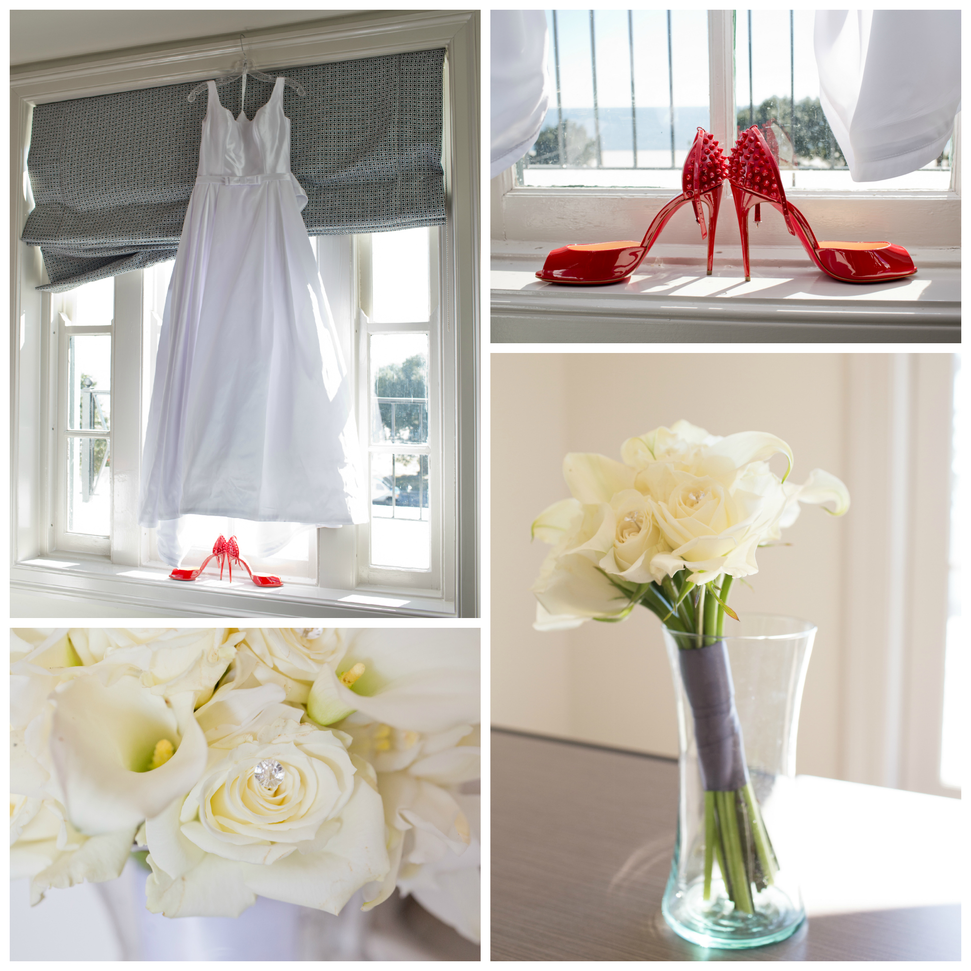 wedding details - bouquets and shoes by Uninvented Colors Photography (Gulf Coast wedding photographer)