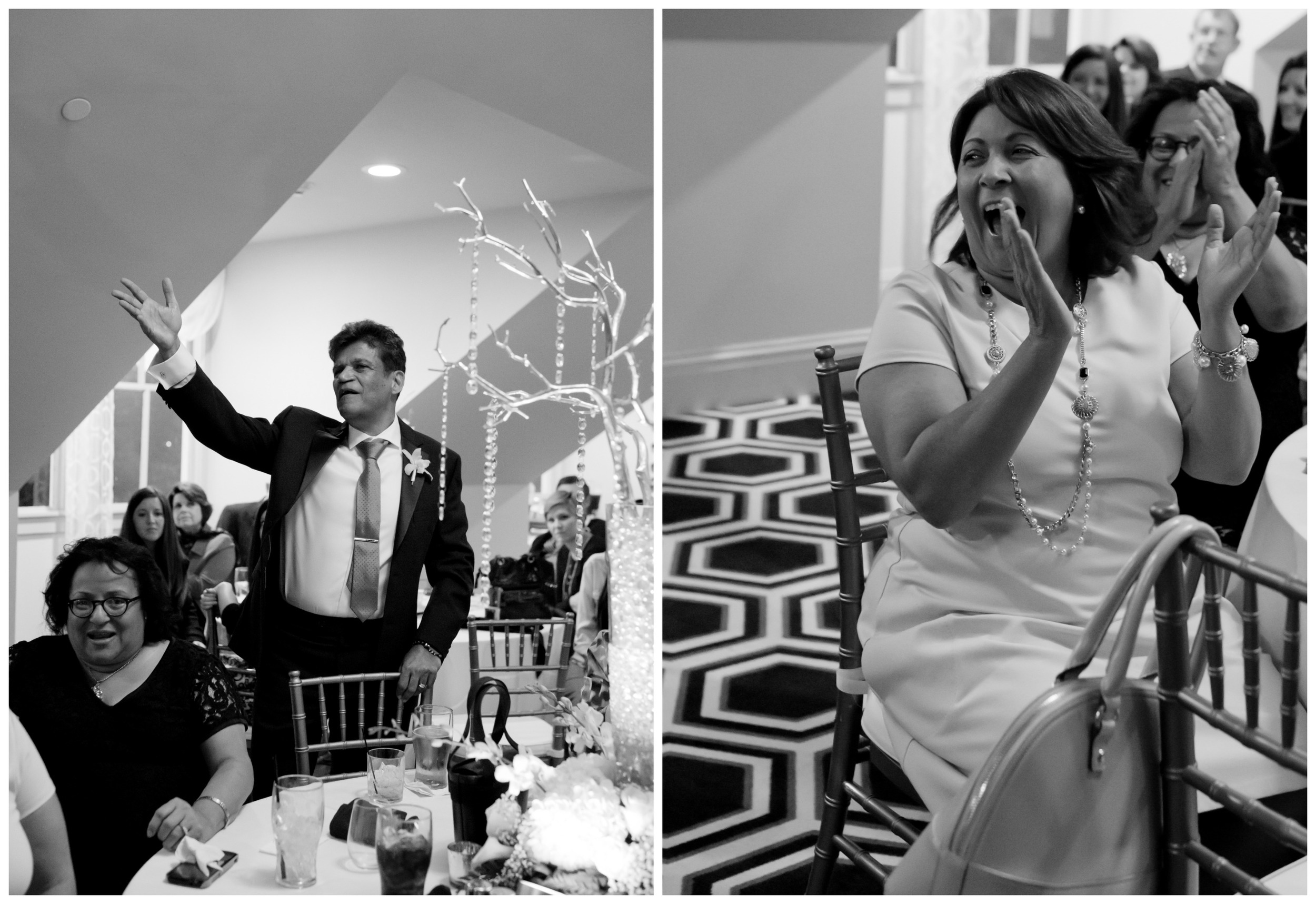 candid black and white wedding reception photos (Uninvented Colors Photography)