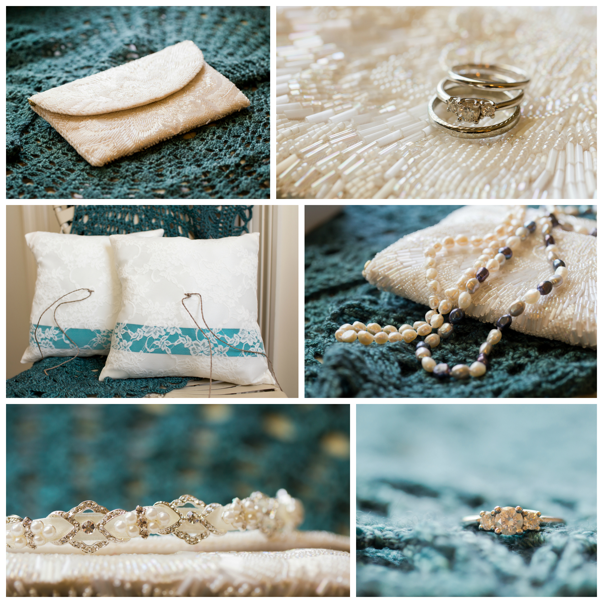 wedding detail macro photos by Uninvented Colors Photography (wedding ring, jewelry, purse, ring bearer pillows)