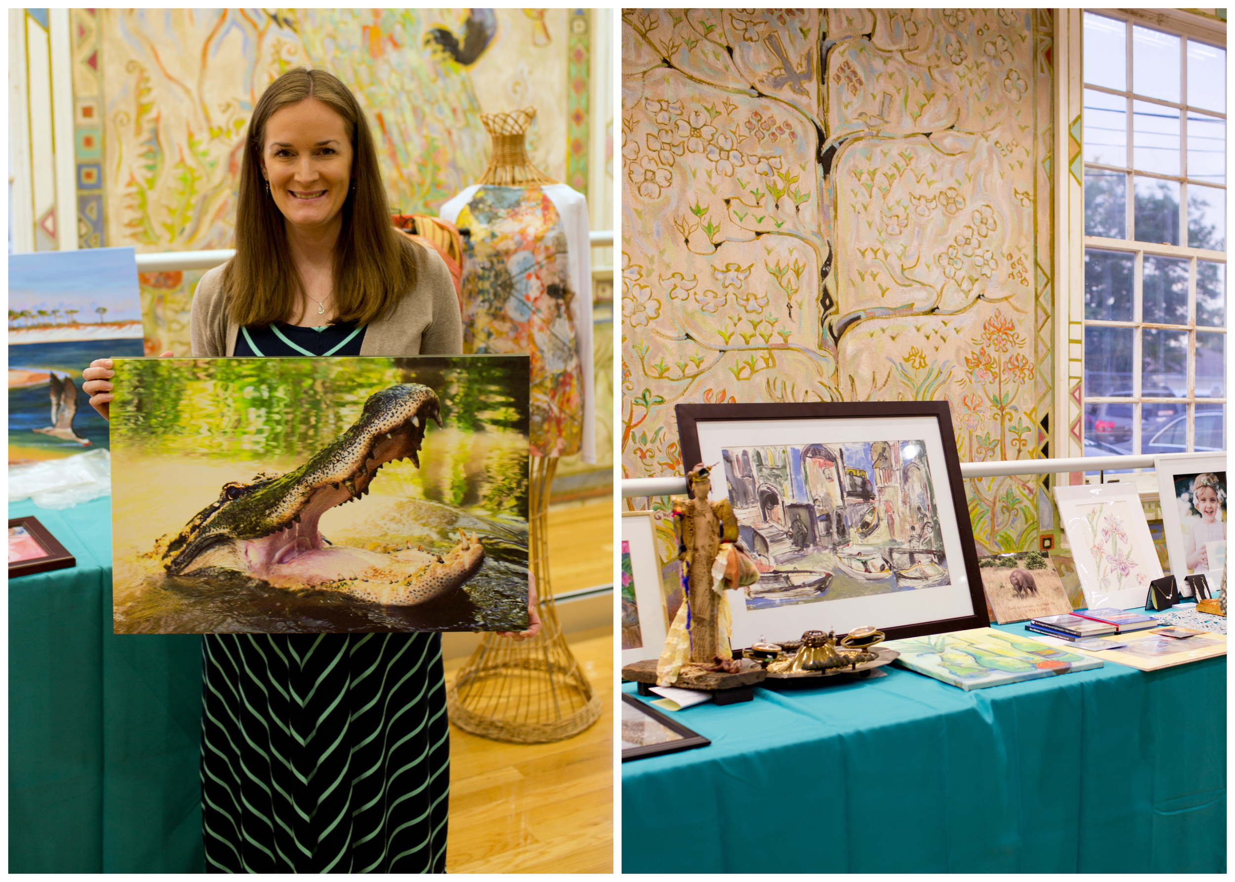Sara Montague Miller with alligator photo (Uninvented Colors Photography)
