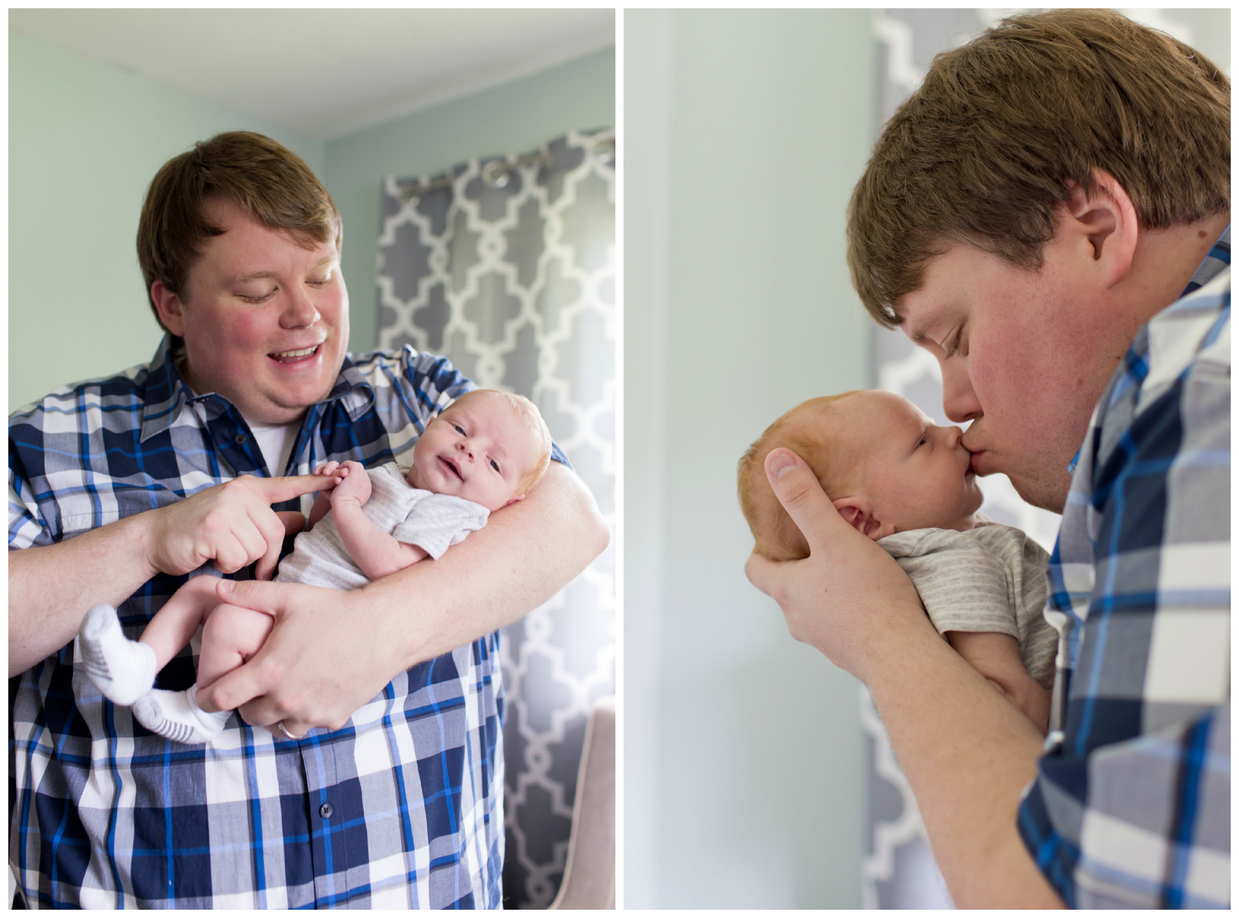 father with new baby son