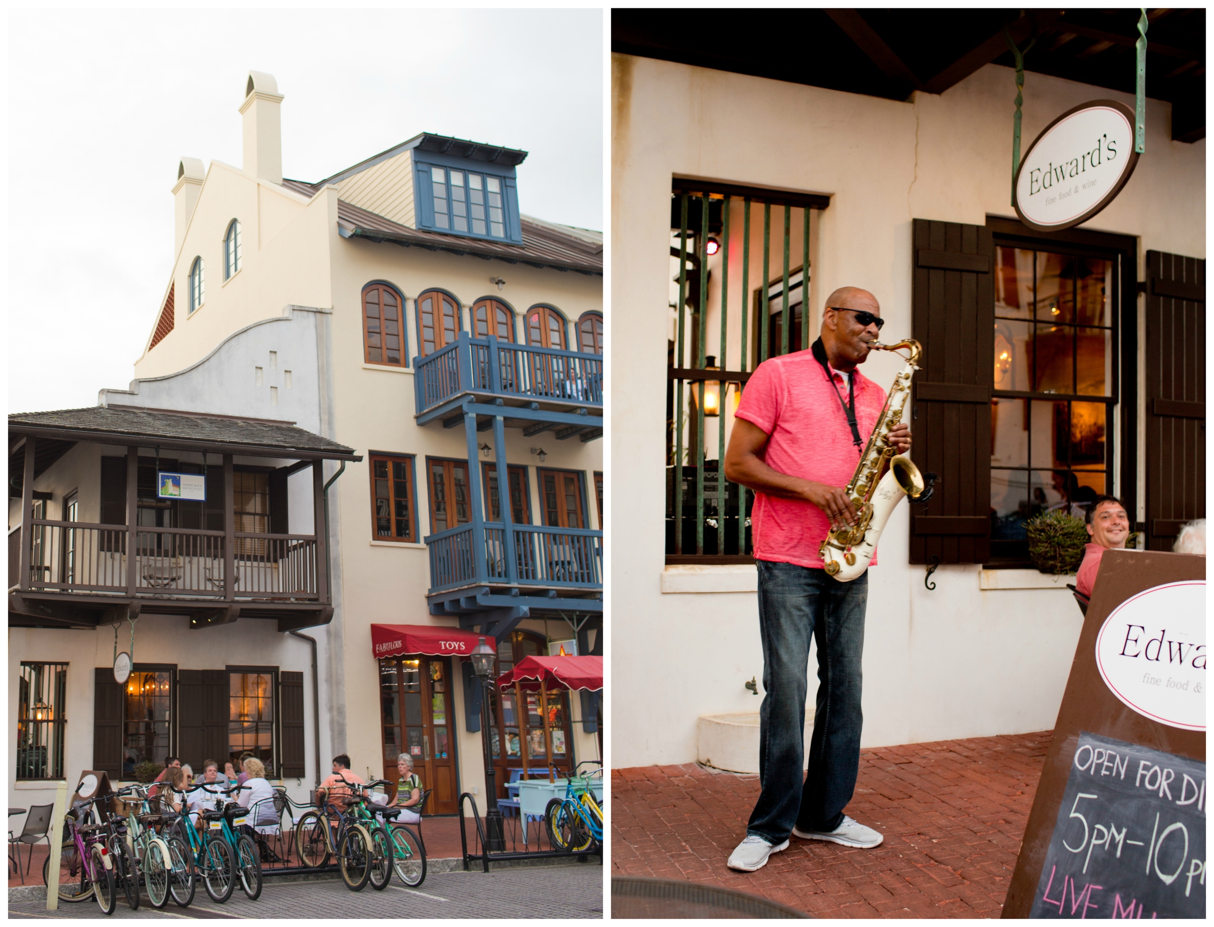 Edward's Restaurant in Rosemary Beach, Florida (saxophone player)