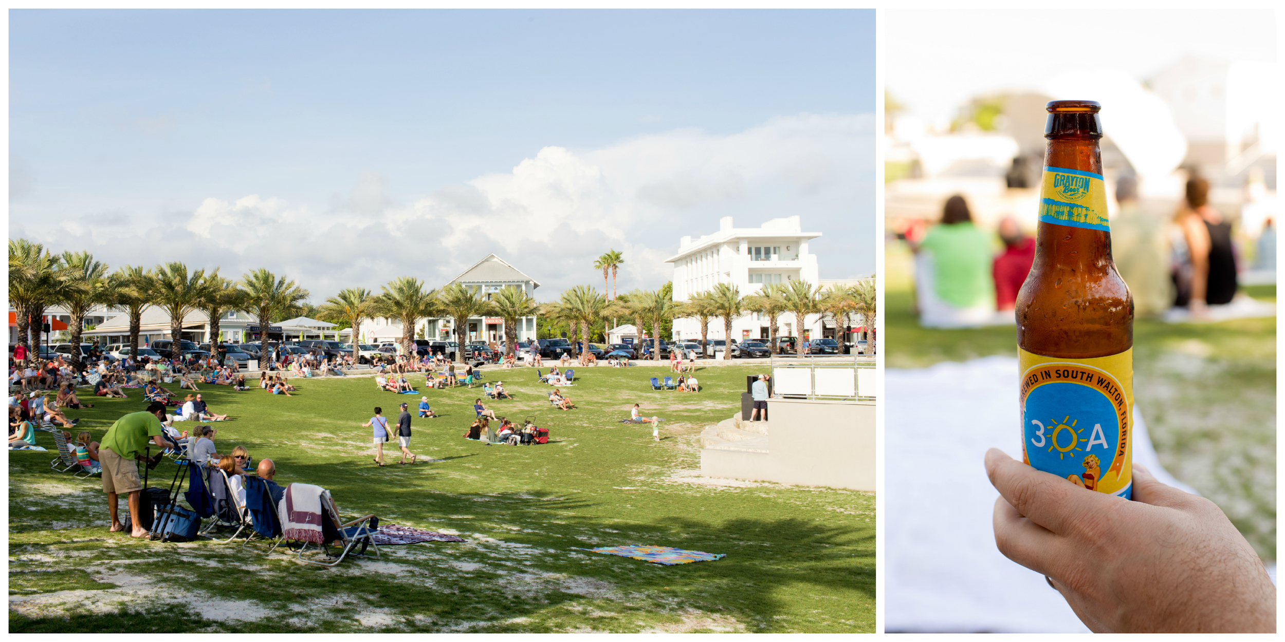Jazz on the Lawn in Seaside, Florida with 30A beer