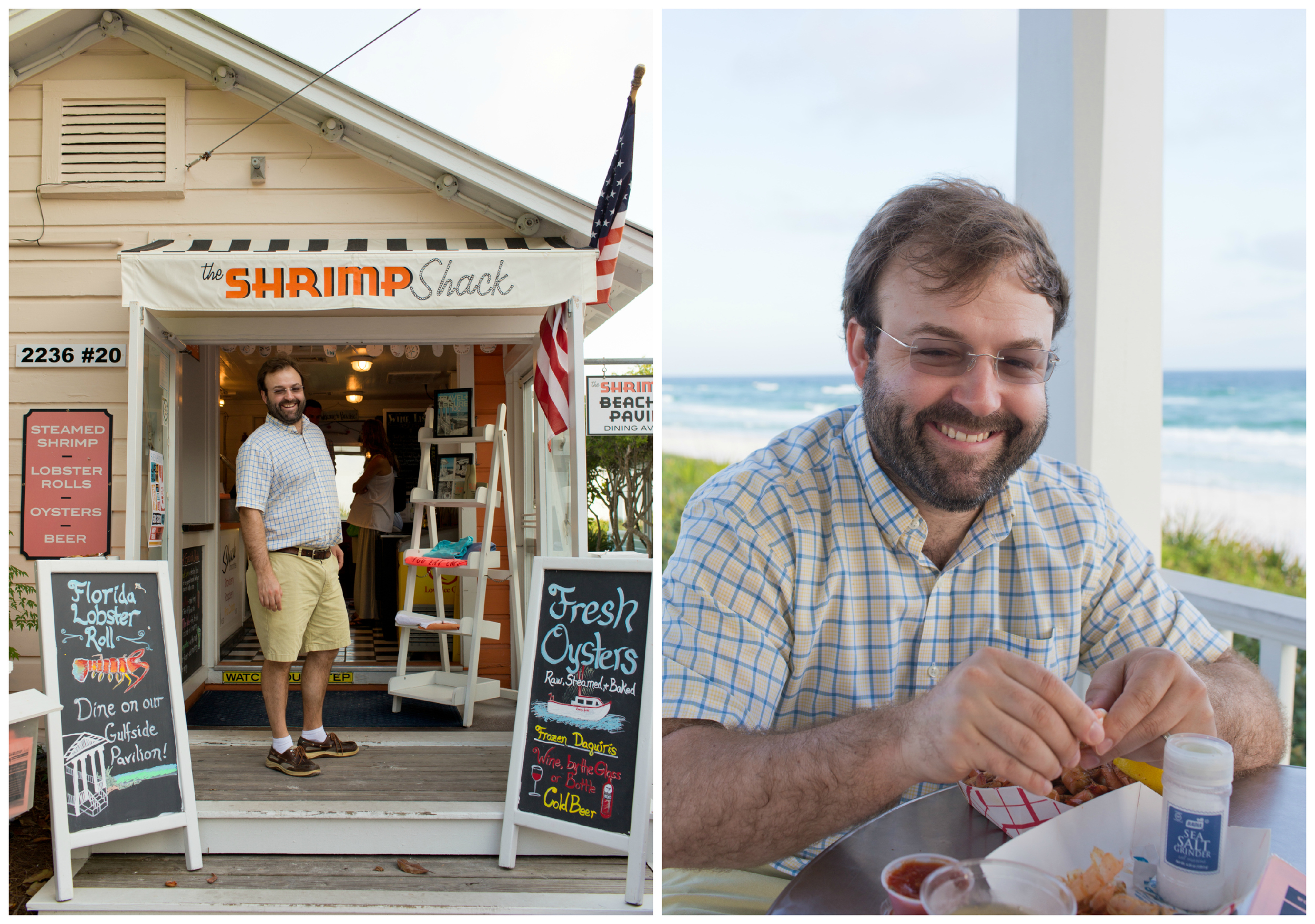 Alex at the Shrimp Shack in Seaside, Florida