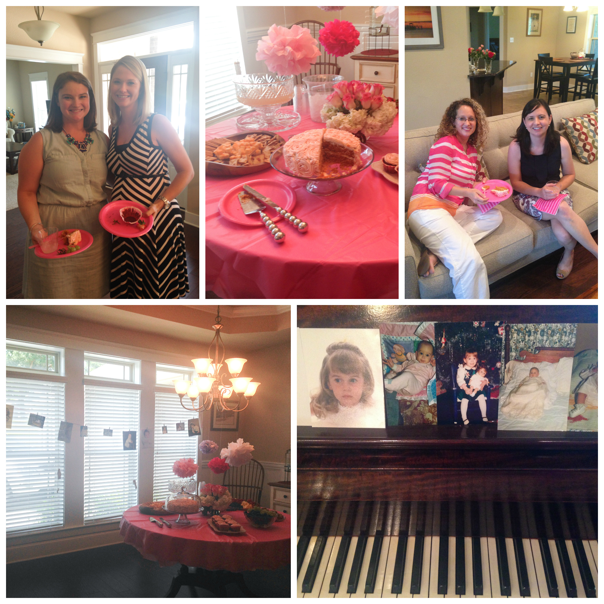 girly baby shower collage
