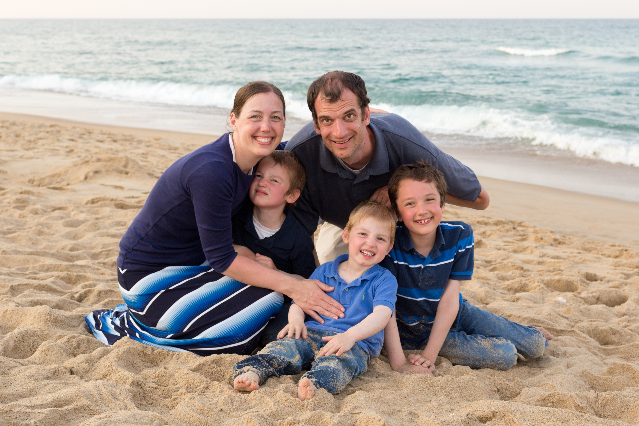 family portrait on beach at Outer Banks (Uninvented Colors Photography)