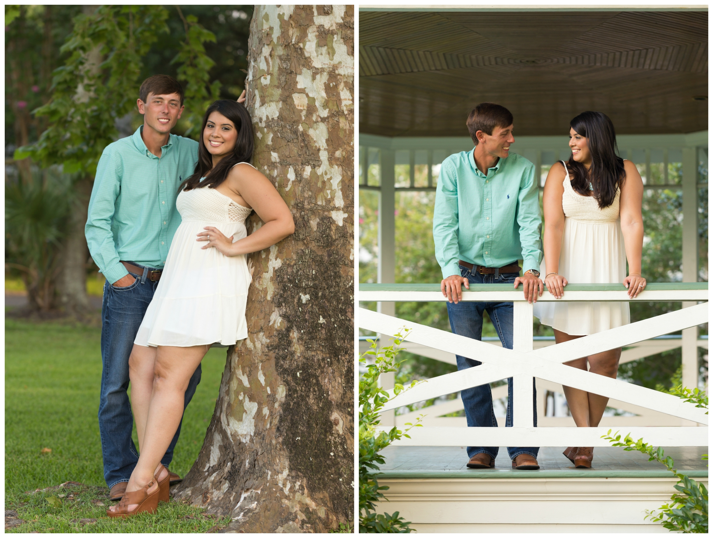 engagement photos in Marshall Park, Ocean Springs, Mississippi