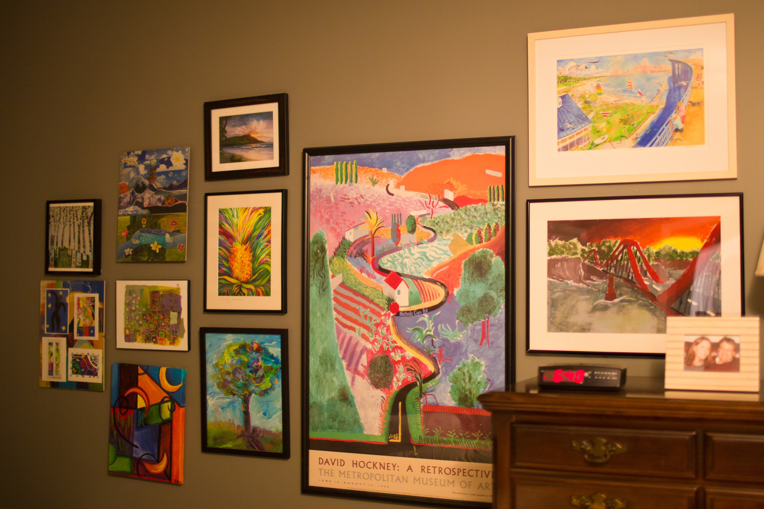 colorful gallery wall (artwork)