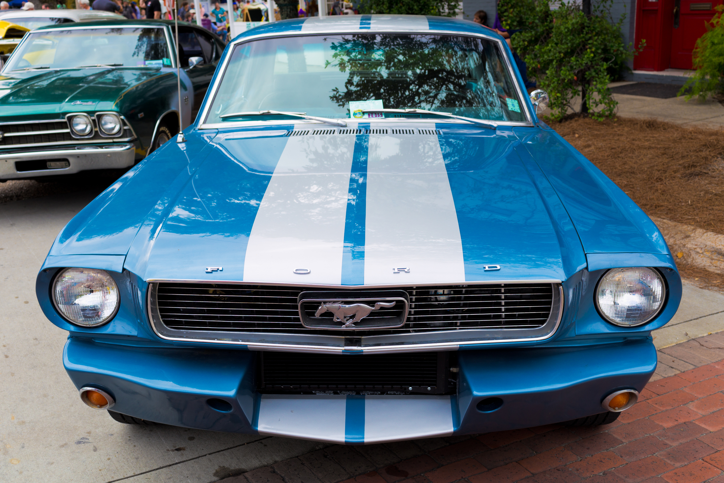 antique Ford Mustang (blue) at Cruisin' the Coast, Ocean Springs