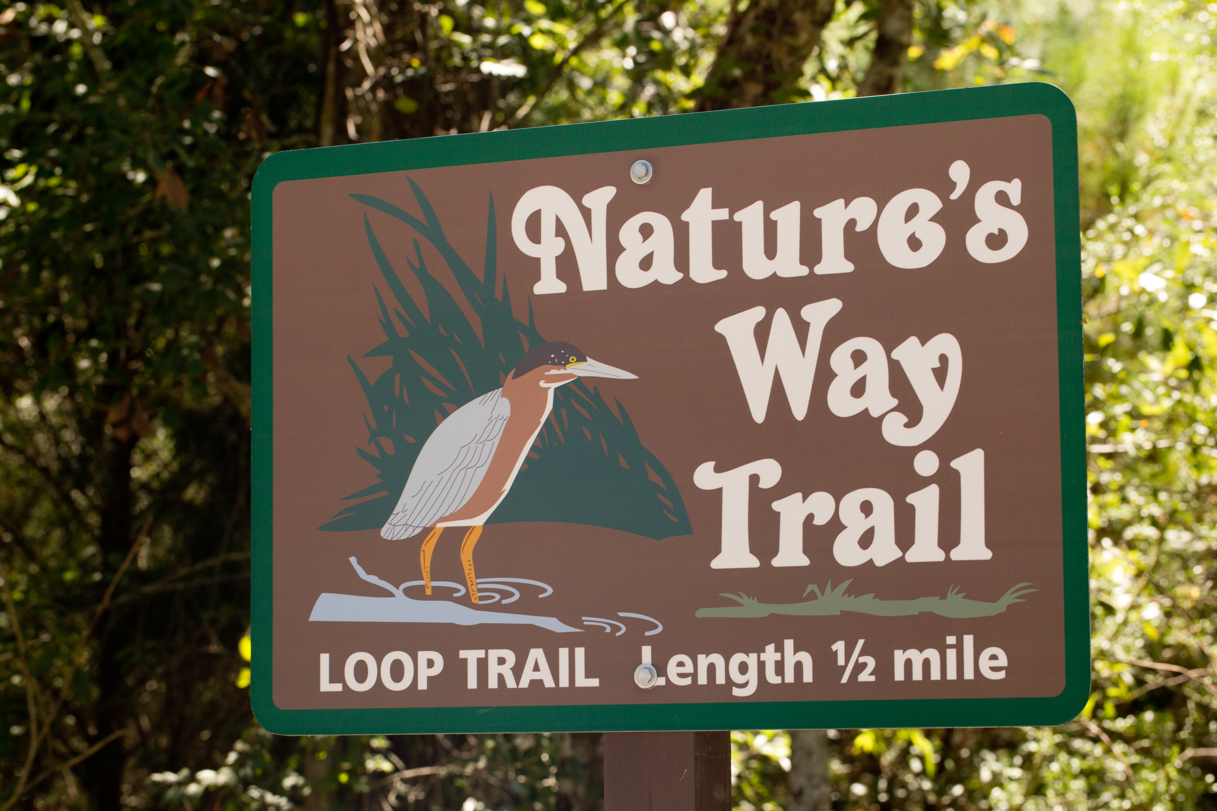Nature's Way Trail sign (Ocean Springs, Mississippi)