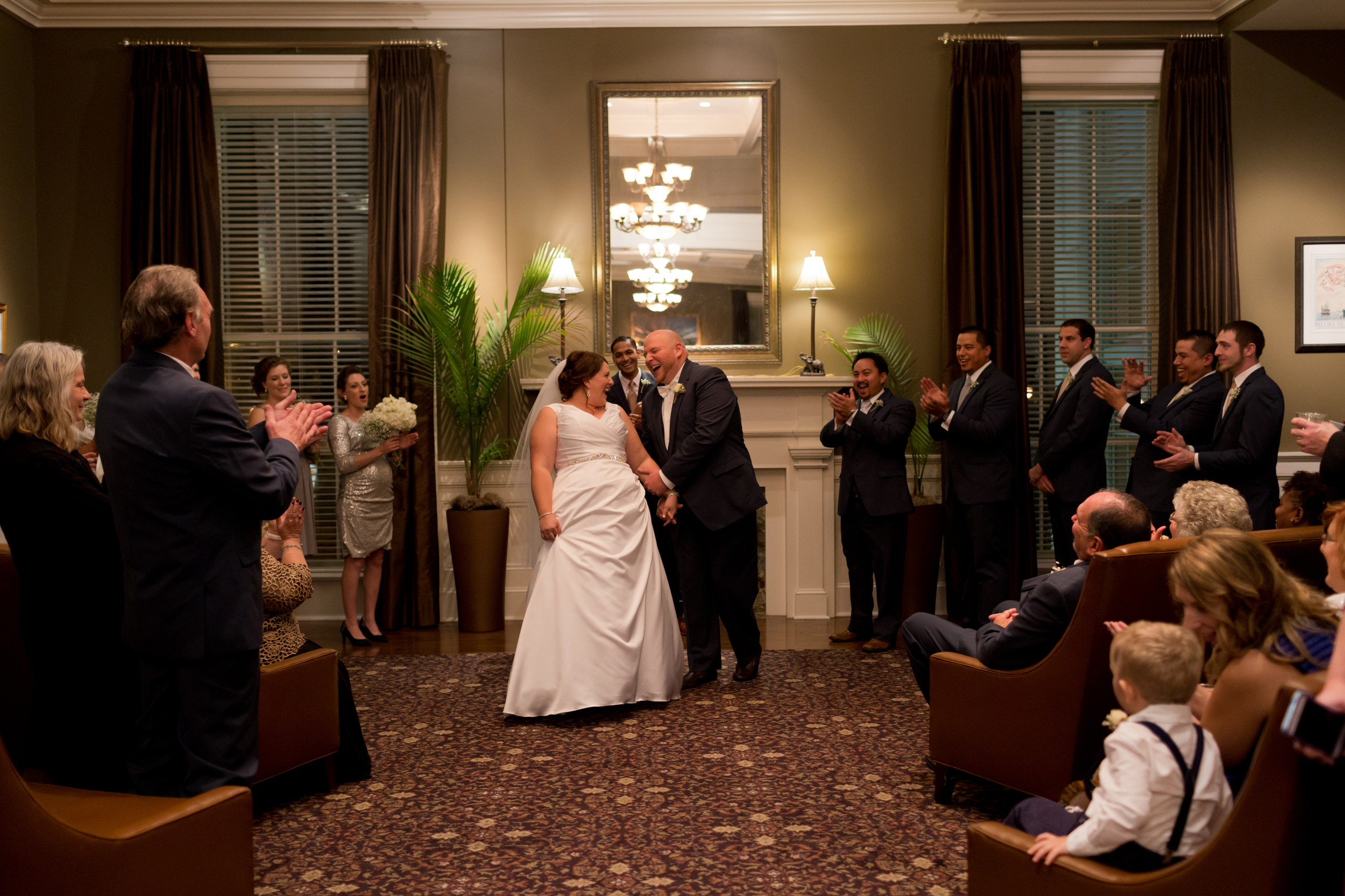 just married couple (Biloxi Visitors Center wedding ceremony)