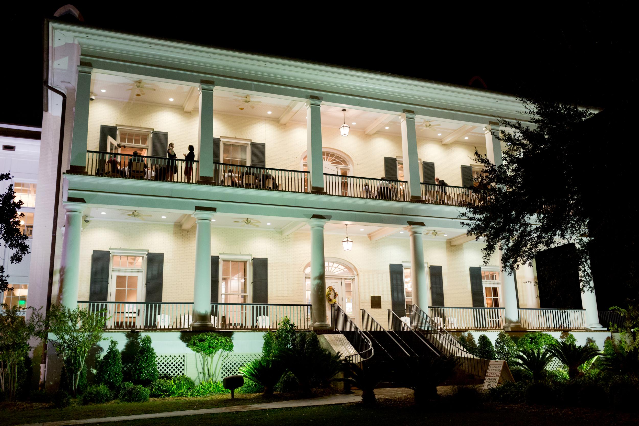 Biloxi Visitors Center at night (wedding venue)
