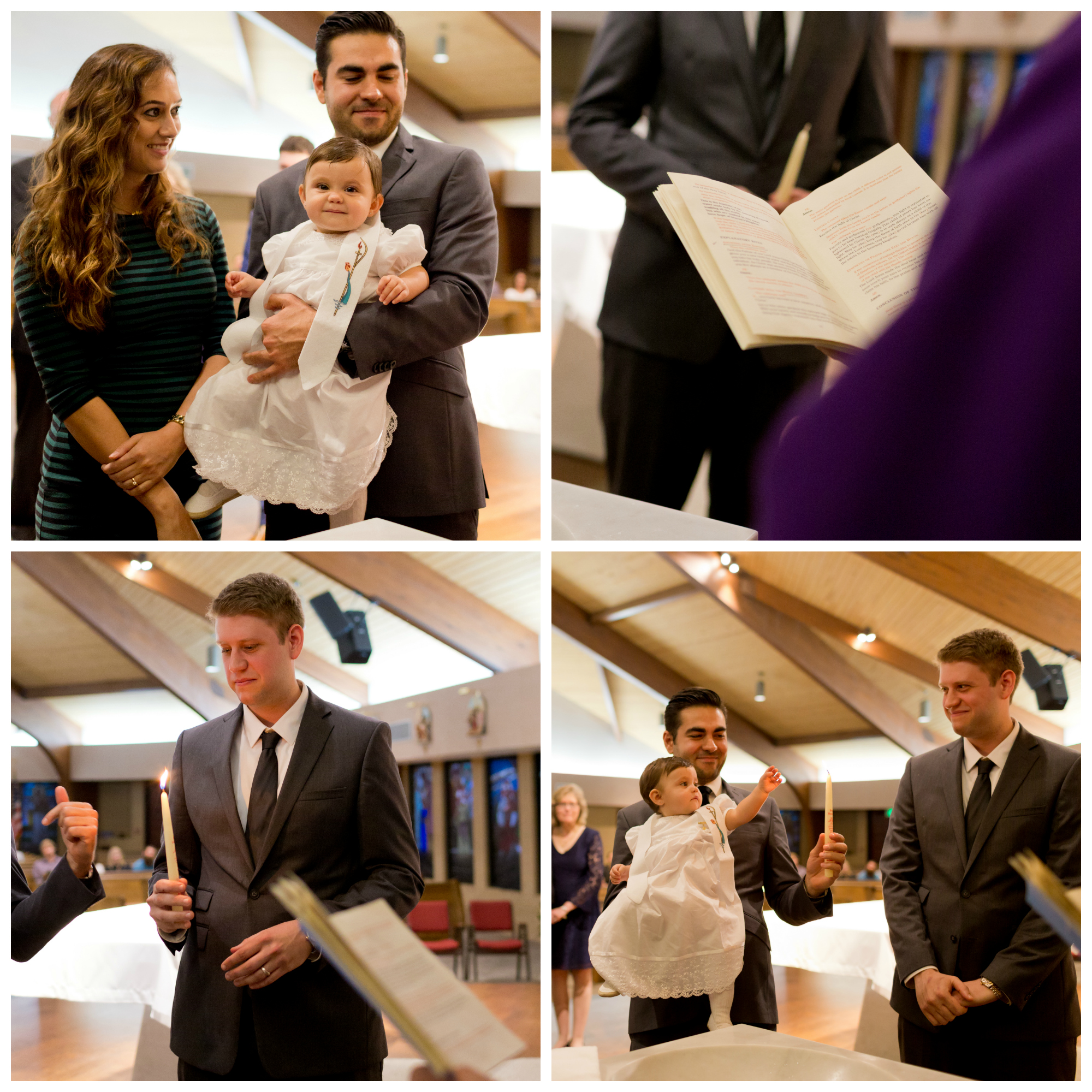 candle and stole in Catholic baptism