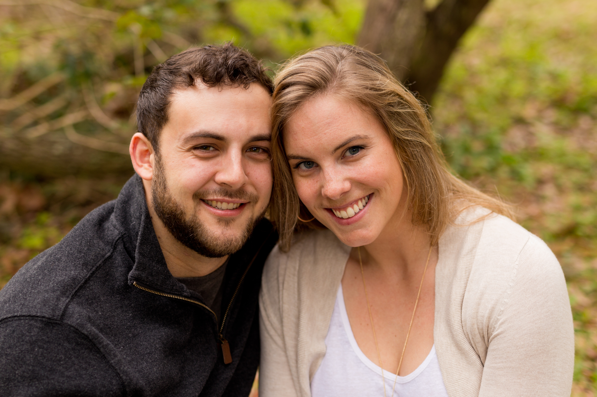 cute couple smiling outdoors