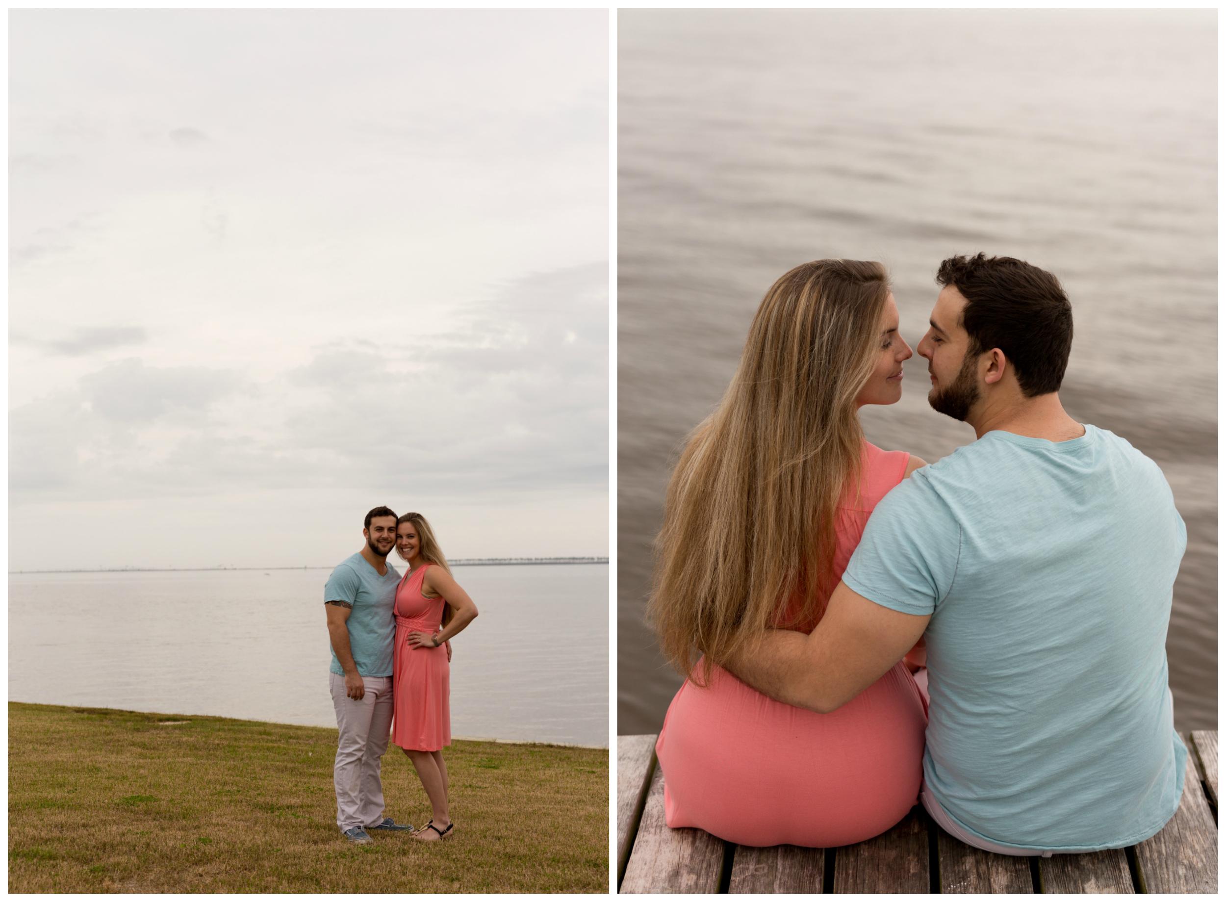 dreamy engagement photos at beach in Ocean Springs