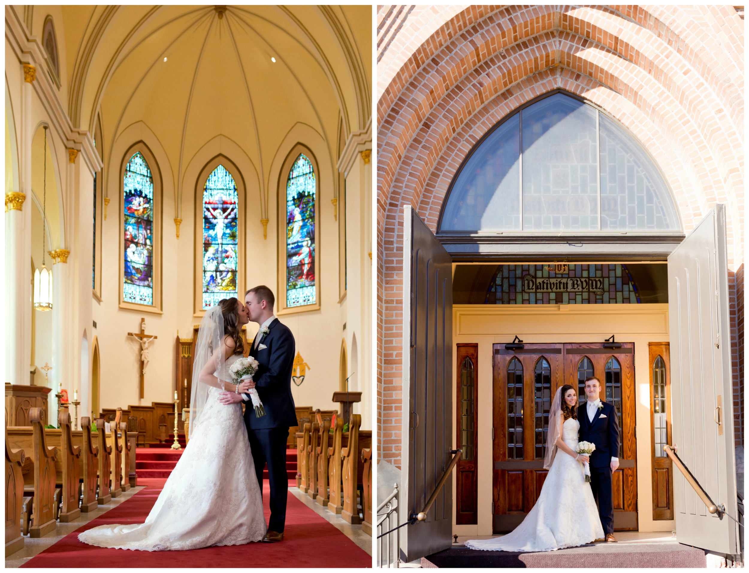 bride and groom portraits at Nativity BVM Biloxi