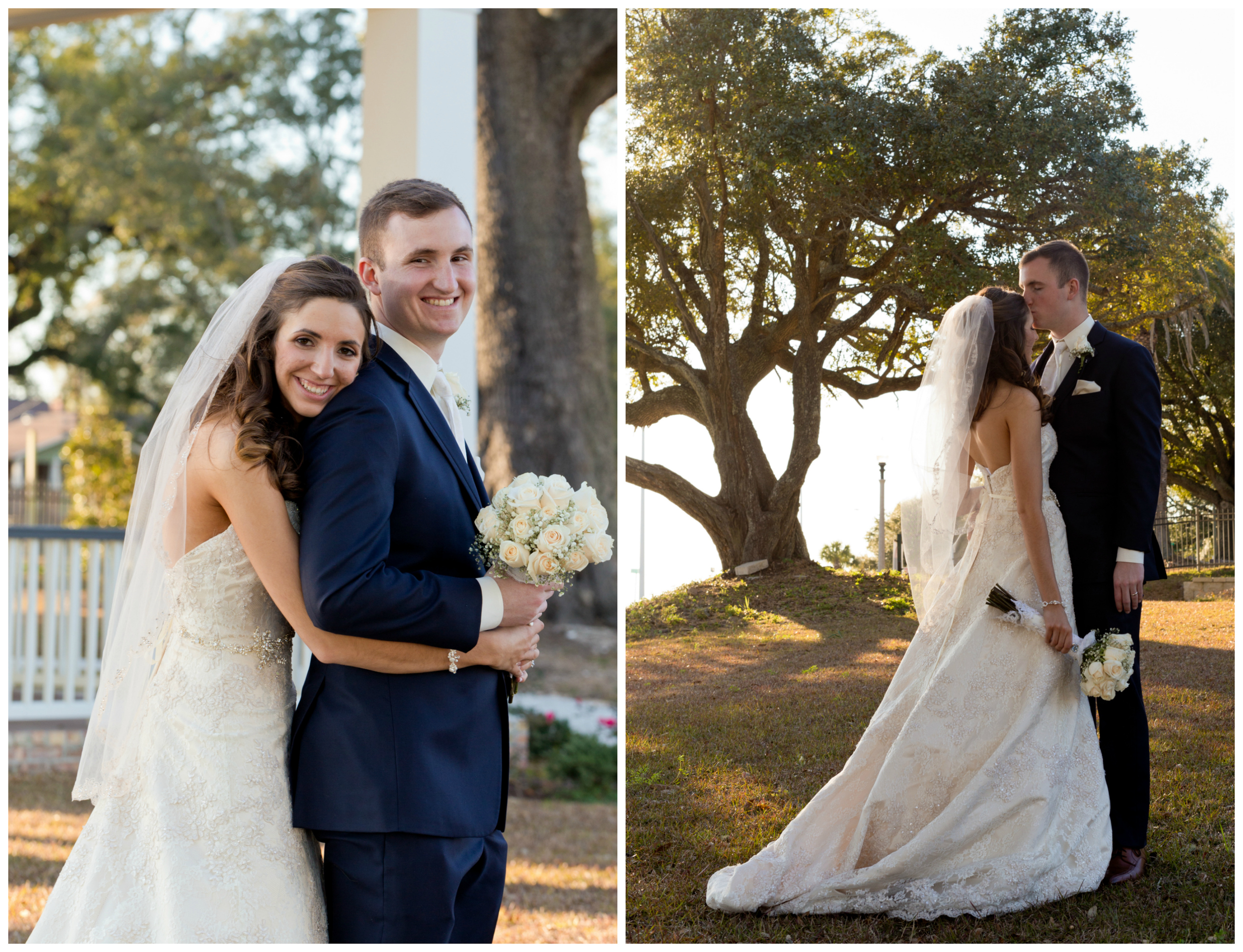 outdoor wedding portraits in Biloxi