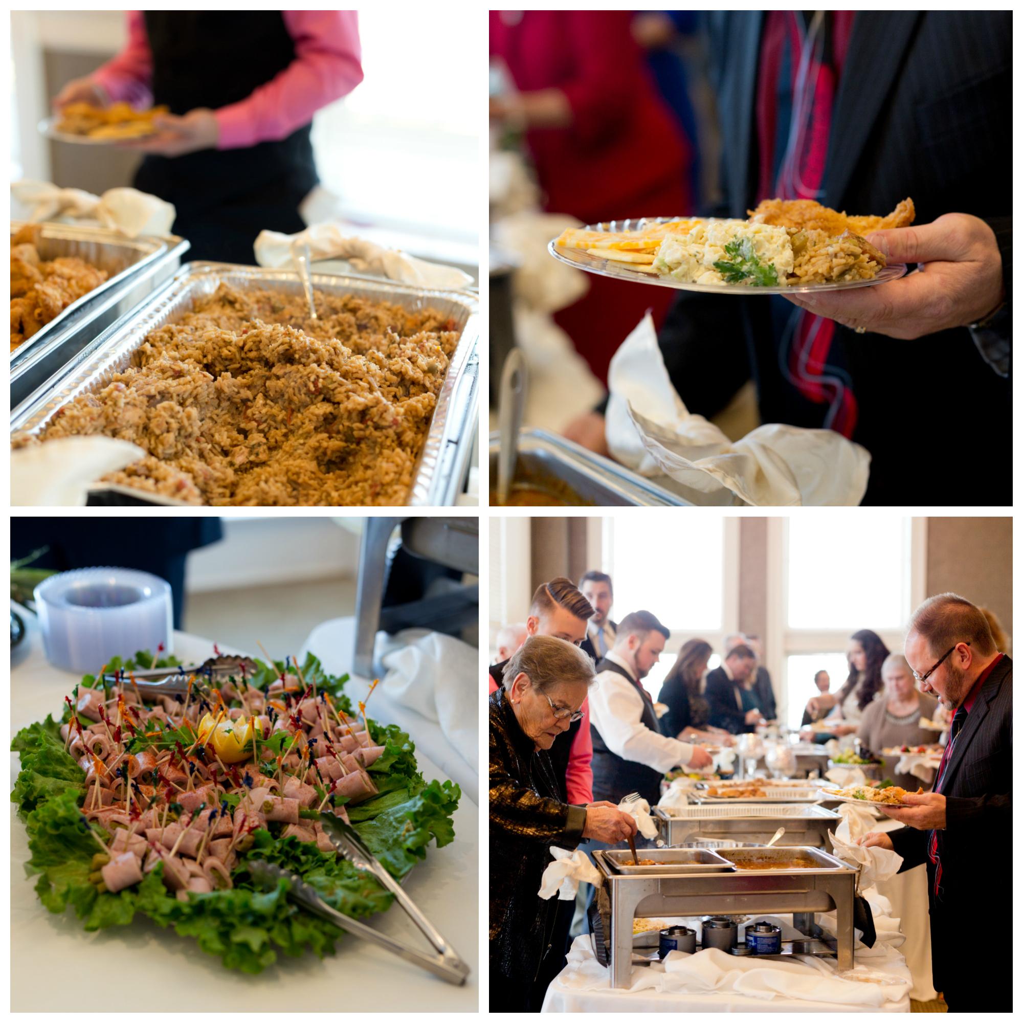 wedding buffet food
