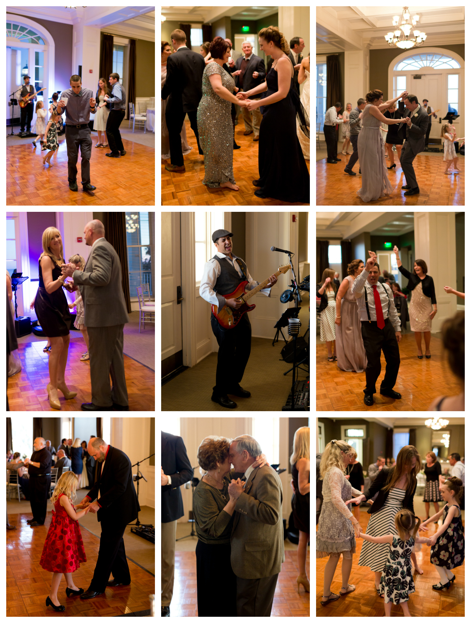 wedding reception music and dancing