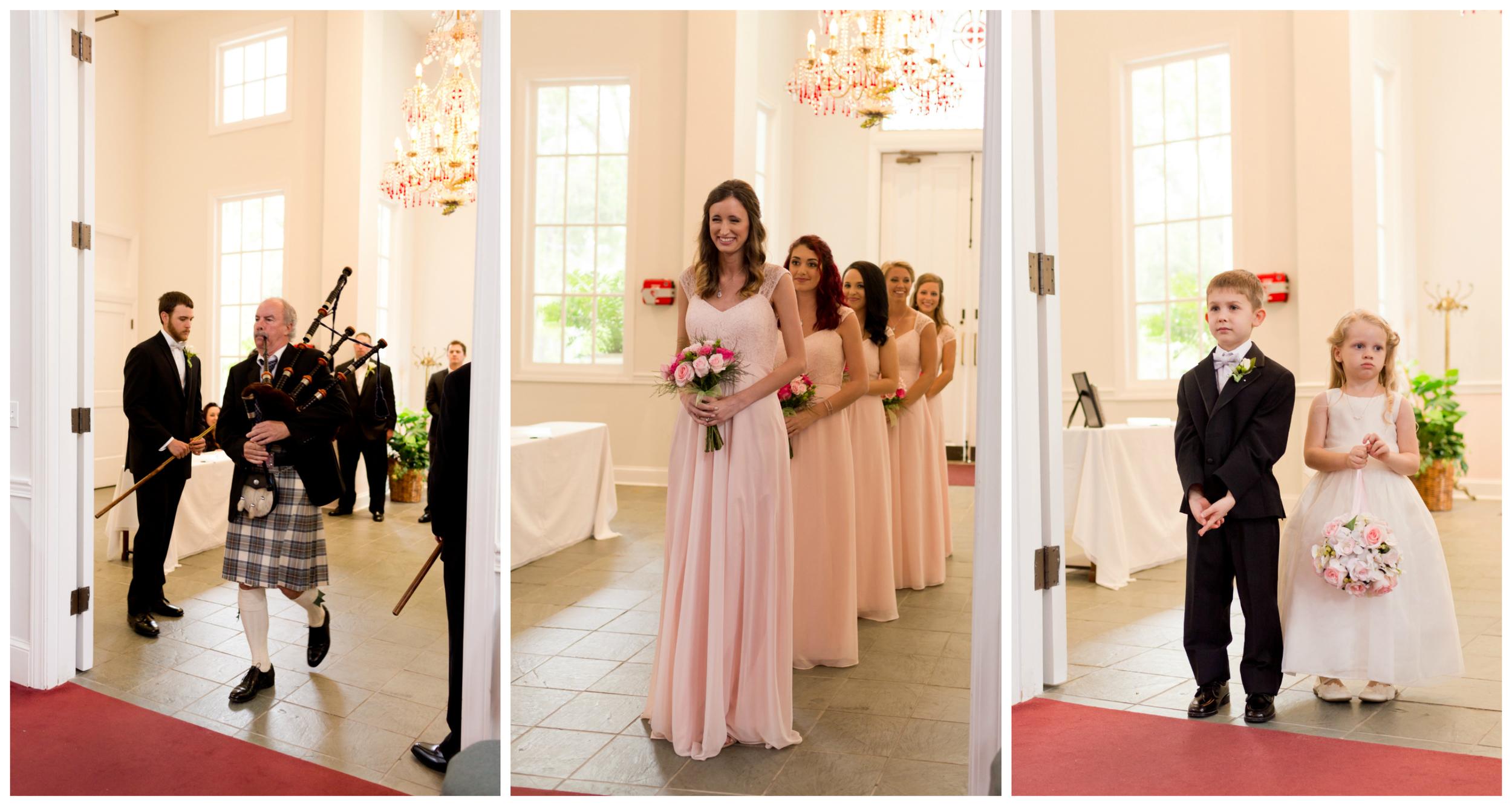 bagpipes at bridal procession