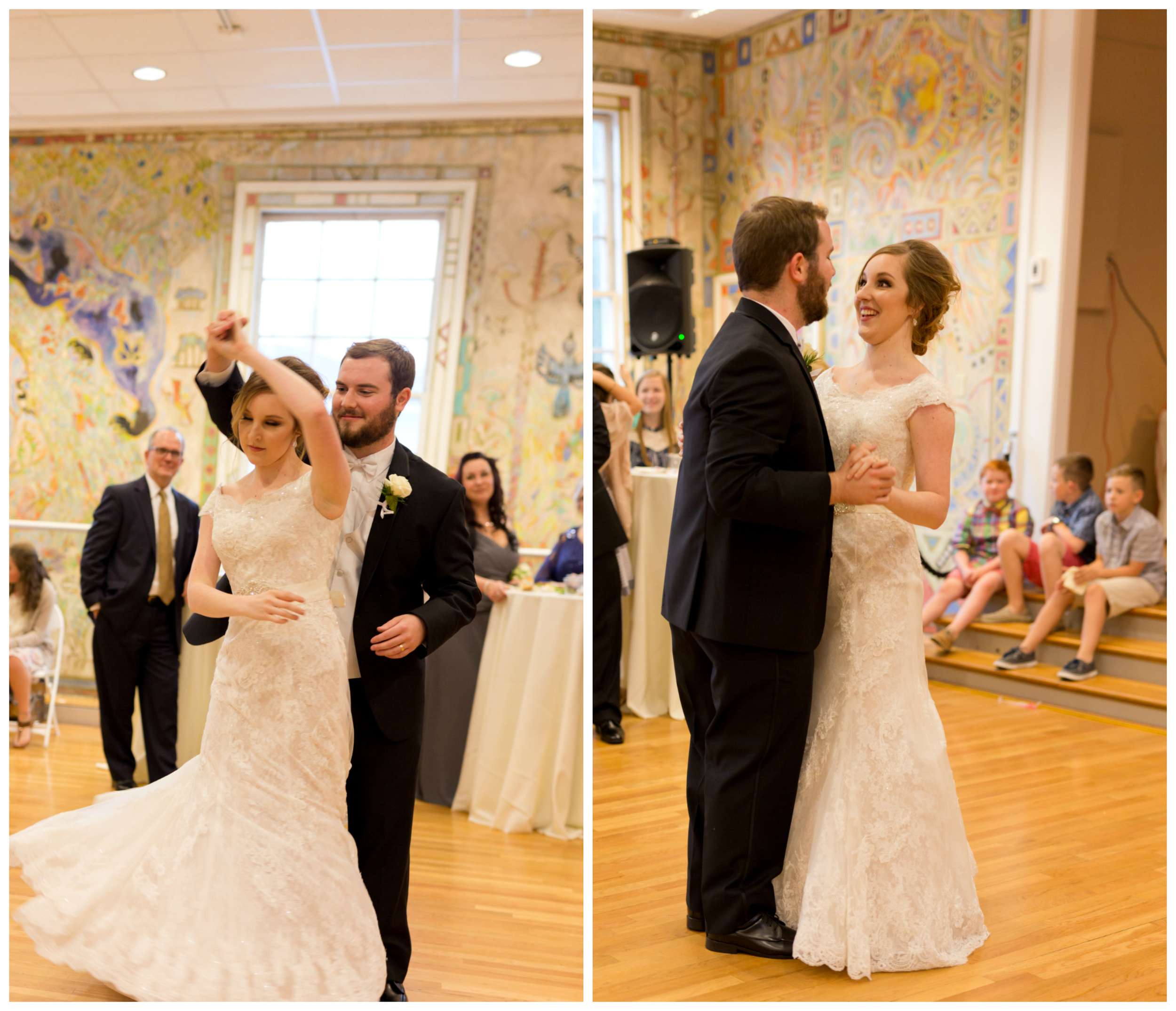 couple's first dance at wedding