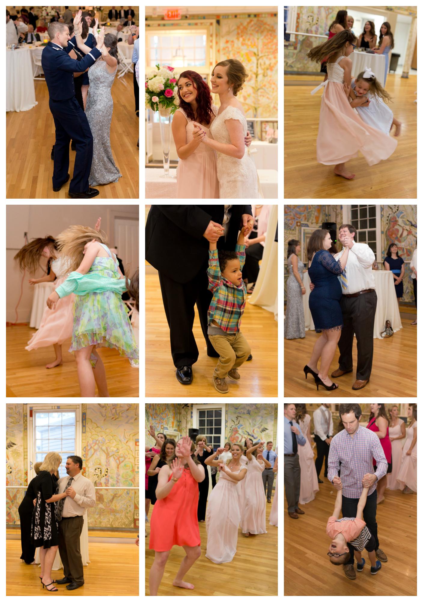 dancing at wedding reception at Ocean Springs Community Center