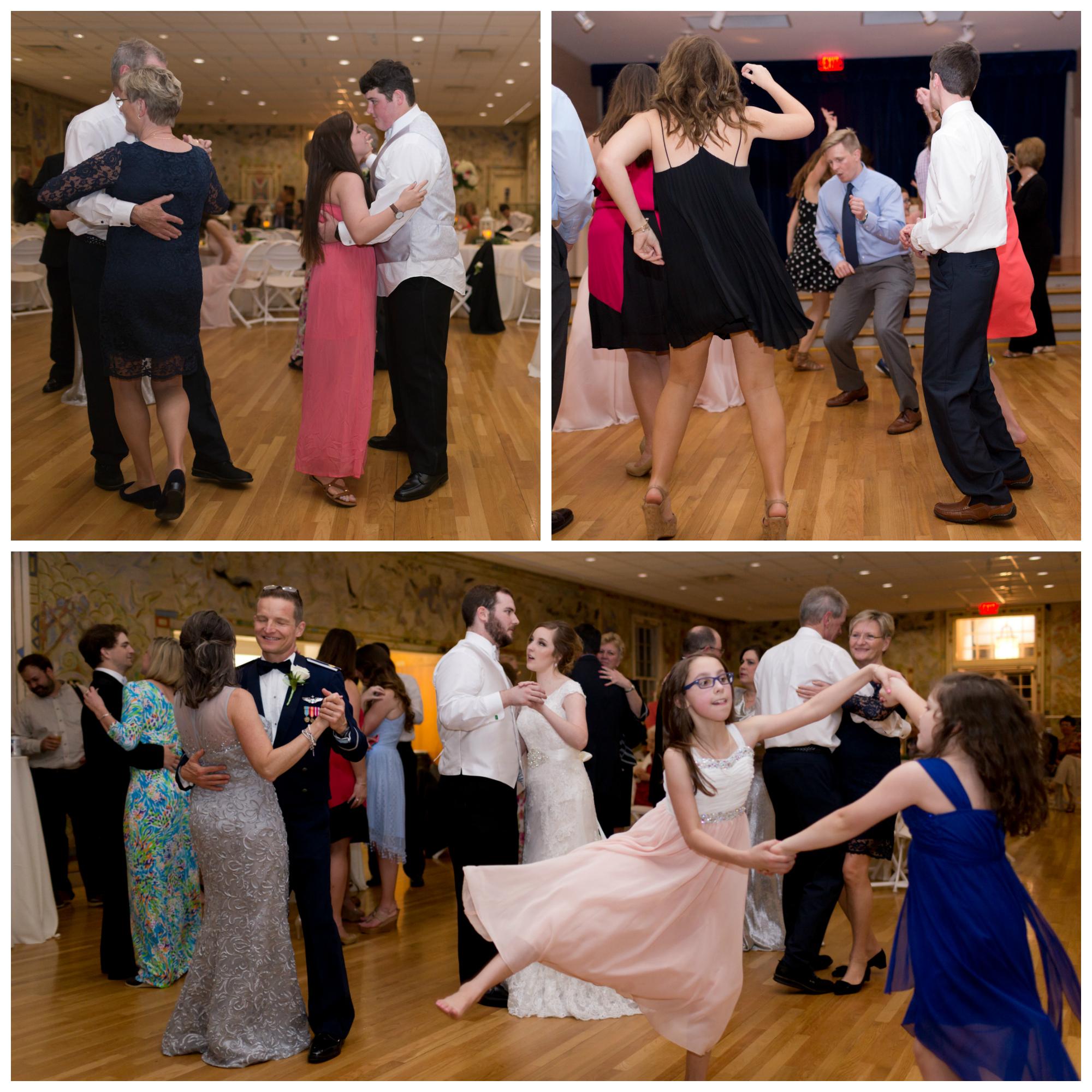 wedding reception dancing at Ocean Springs Community Center