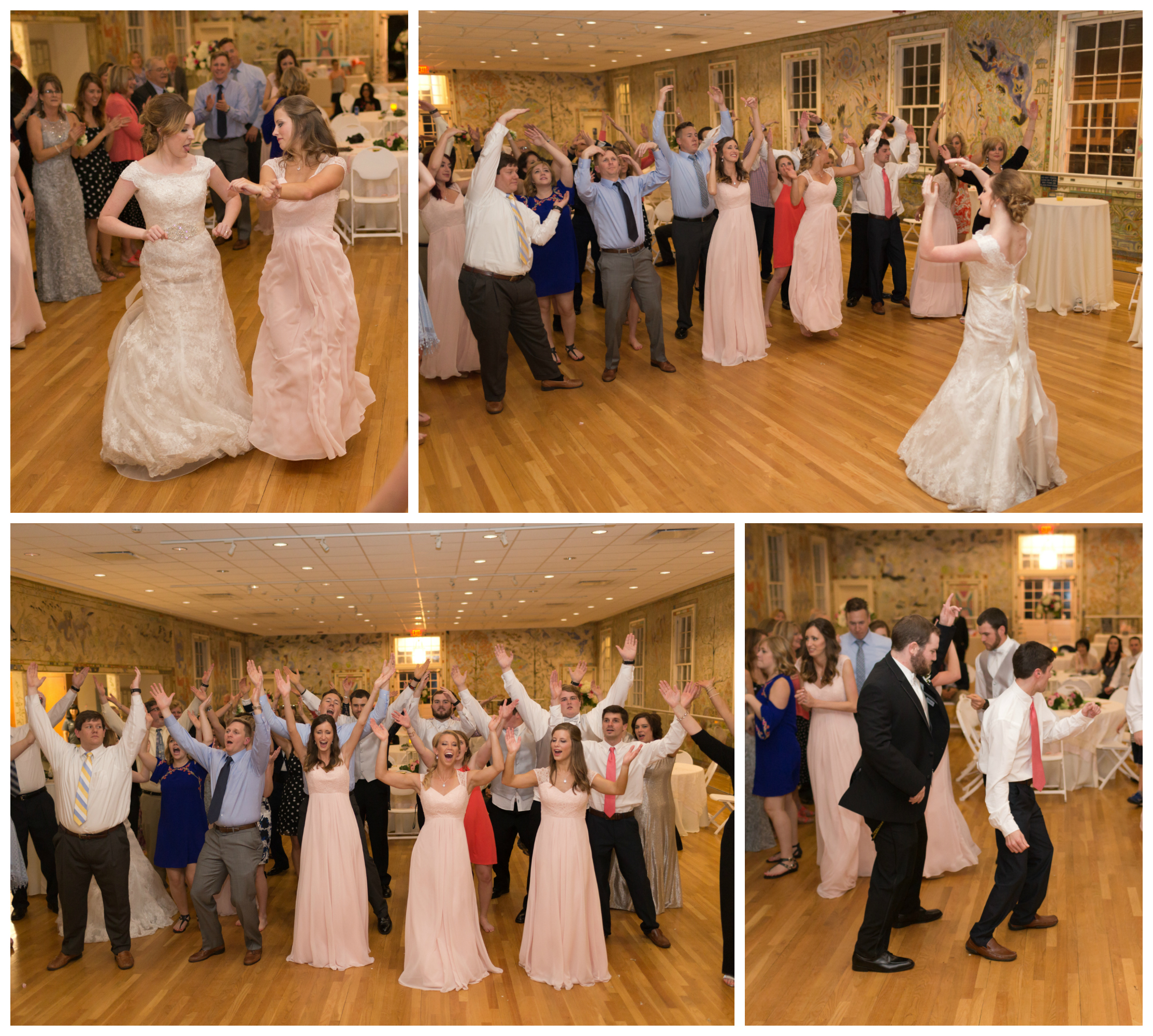 YMCA dance at wedding reception (Uninvented Colors Photography)