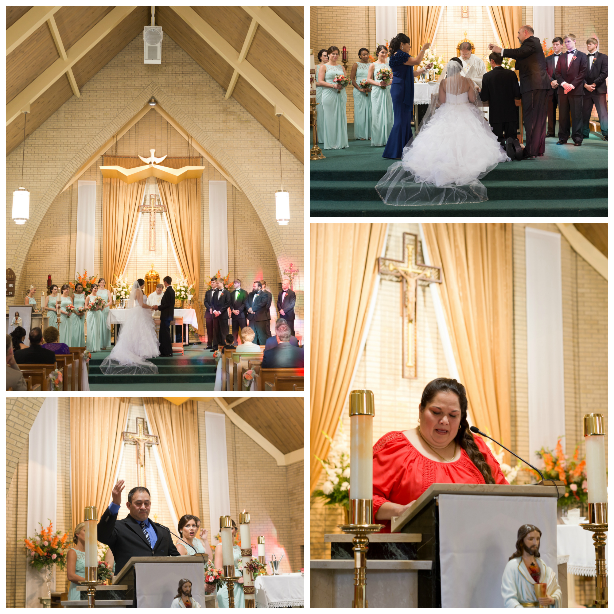 wedding at St. Alphonsus Catholic Church Ocean Springs