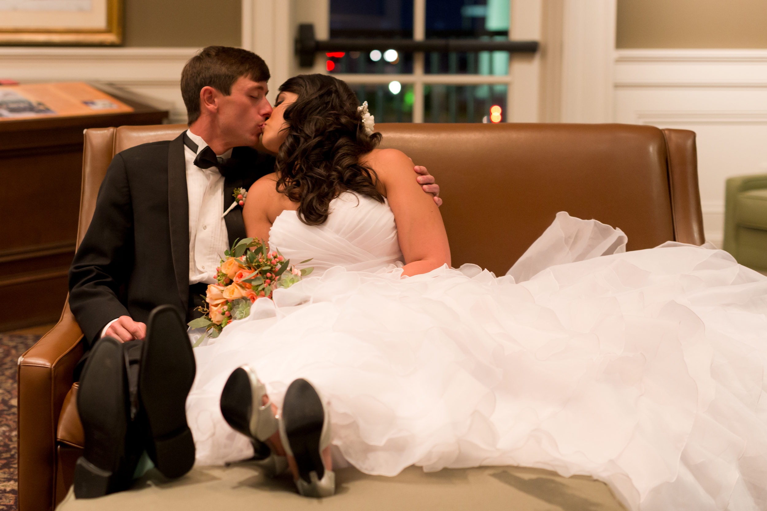 Biloxi Visitors Center wedding portrait (Uninvented Colors Photography)