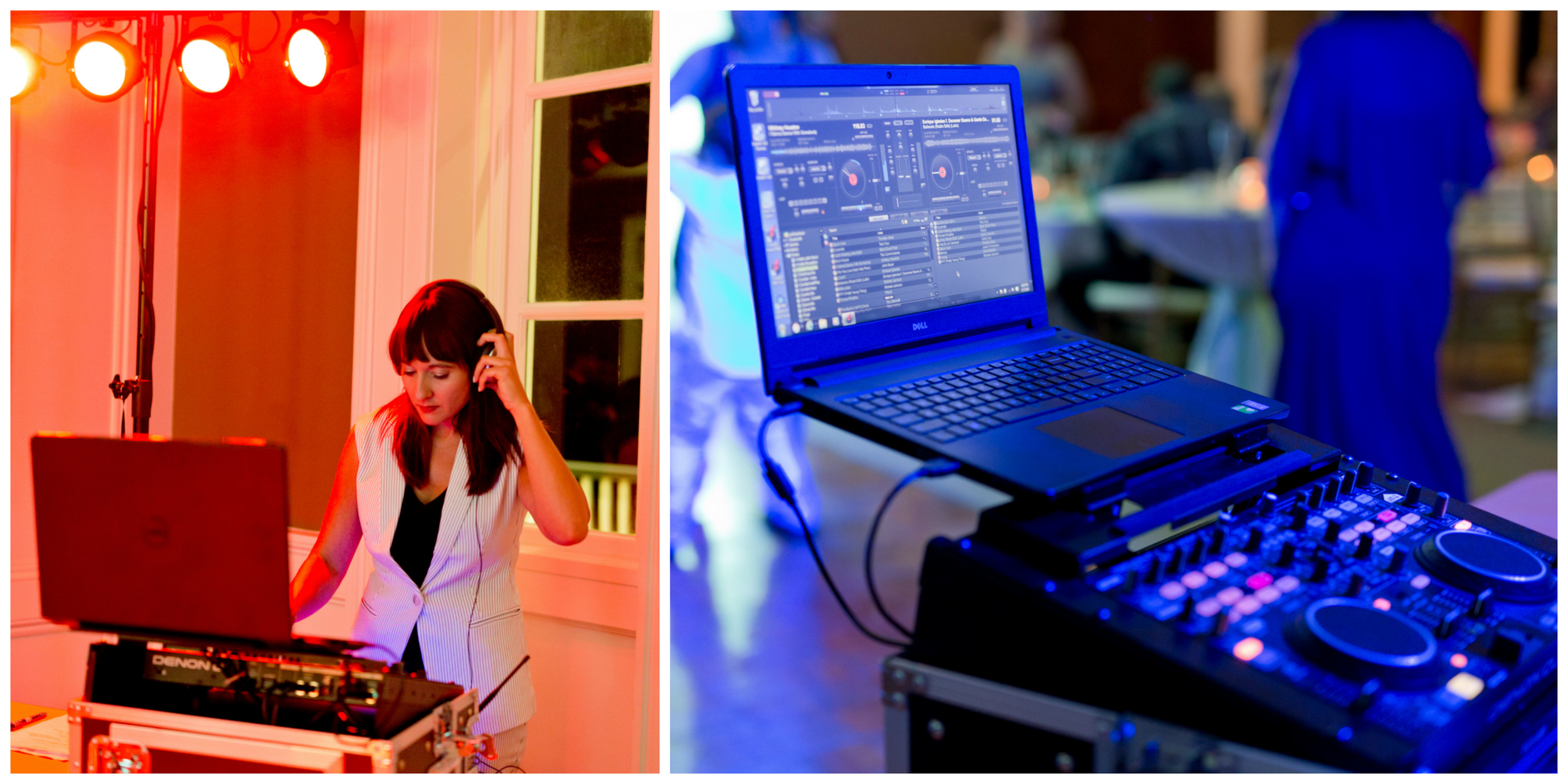 DJ at wedding reception