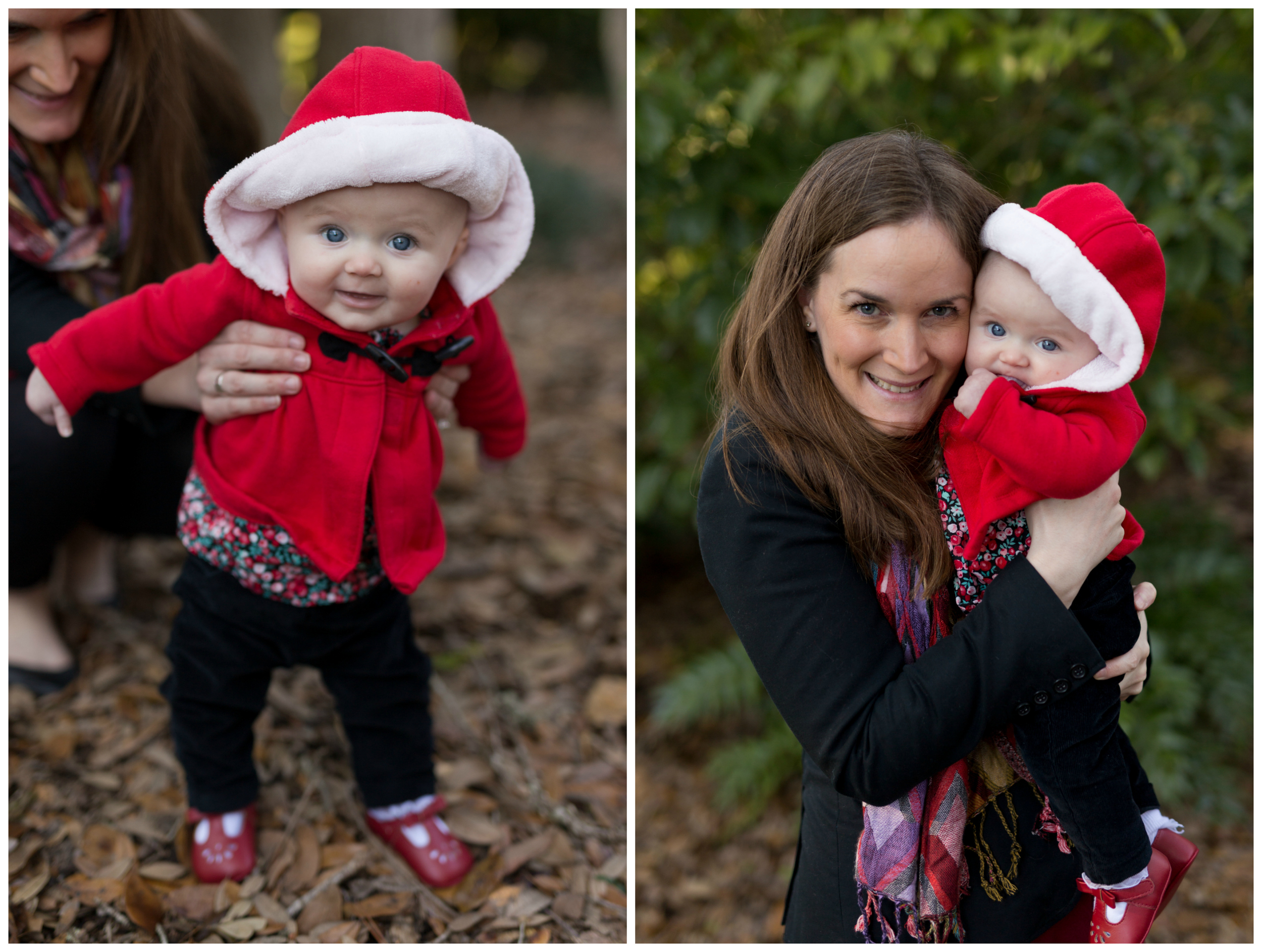 mom and baby girl winter portraits