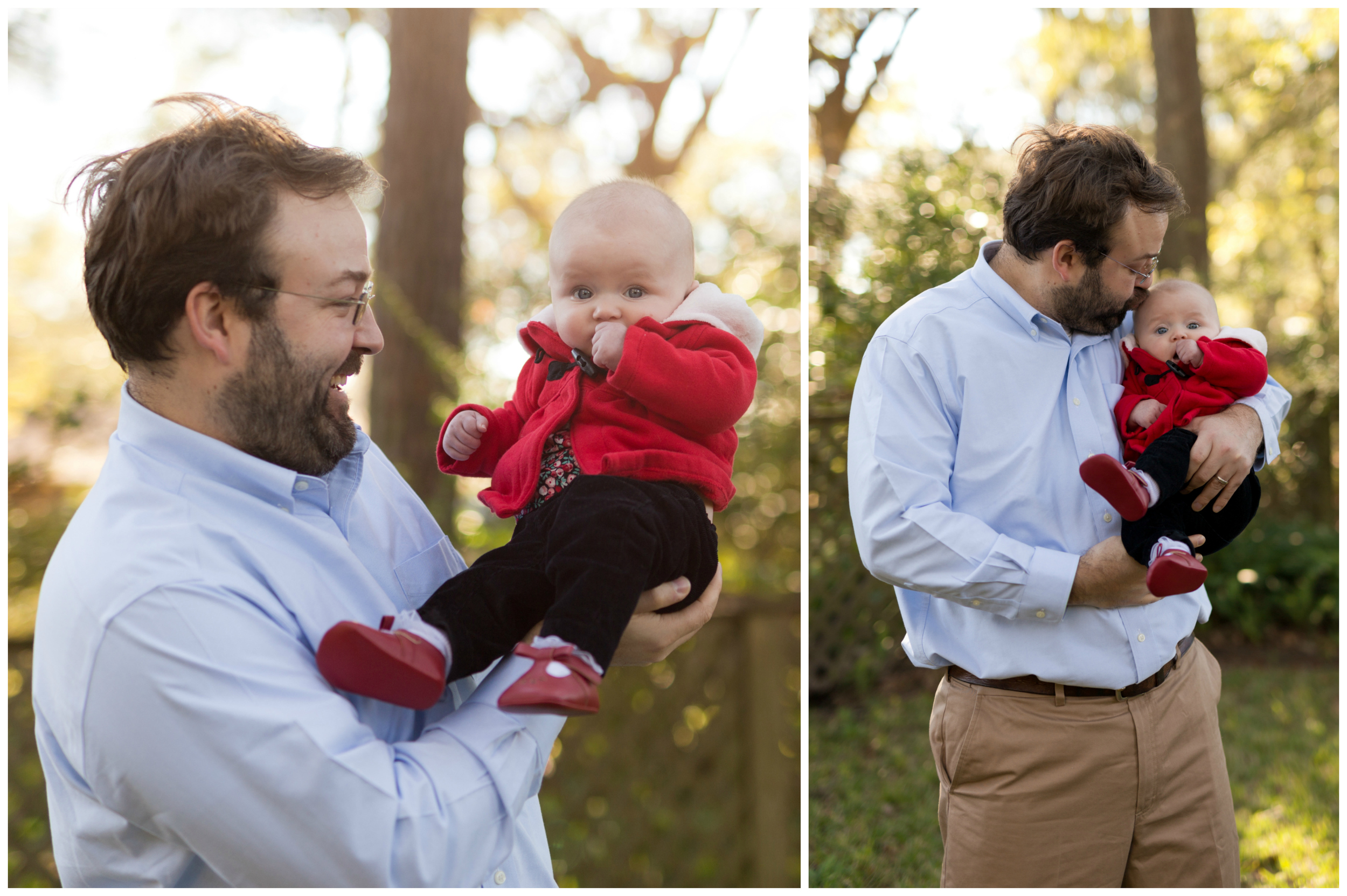 daddy and baby girl winter portraits