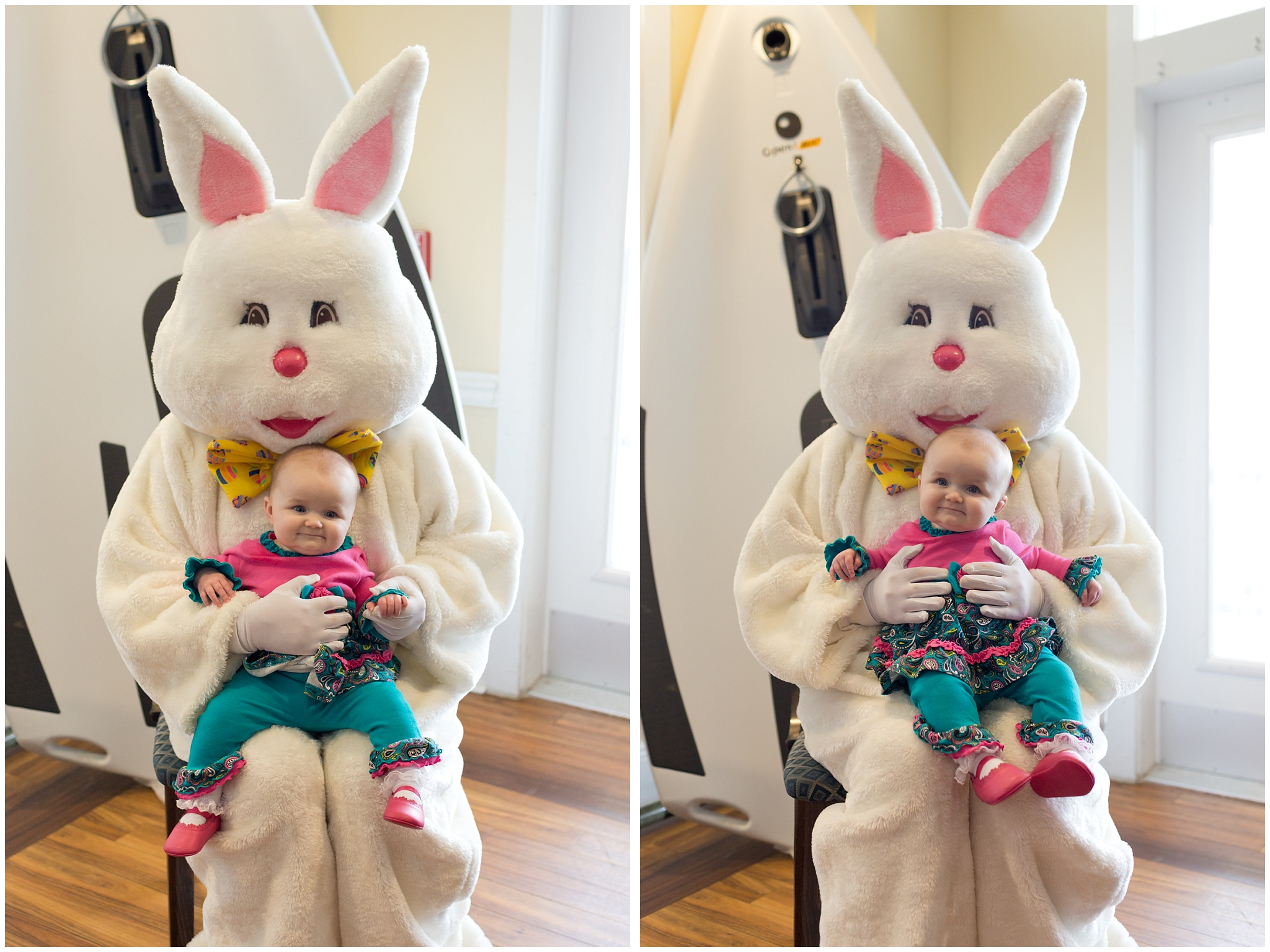 baby girl with Easter bunner