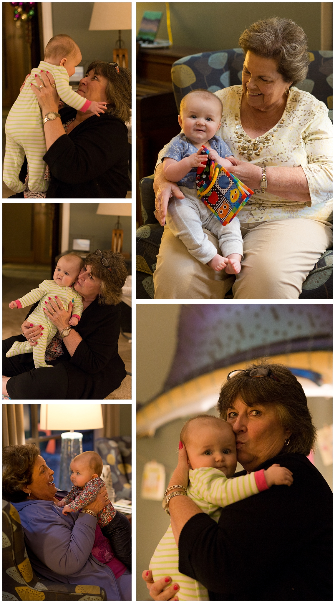 baby girl with grandmother and great-grandmother