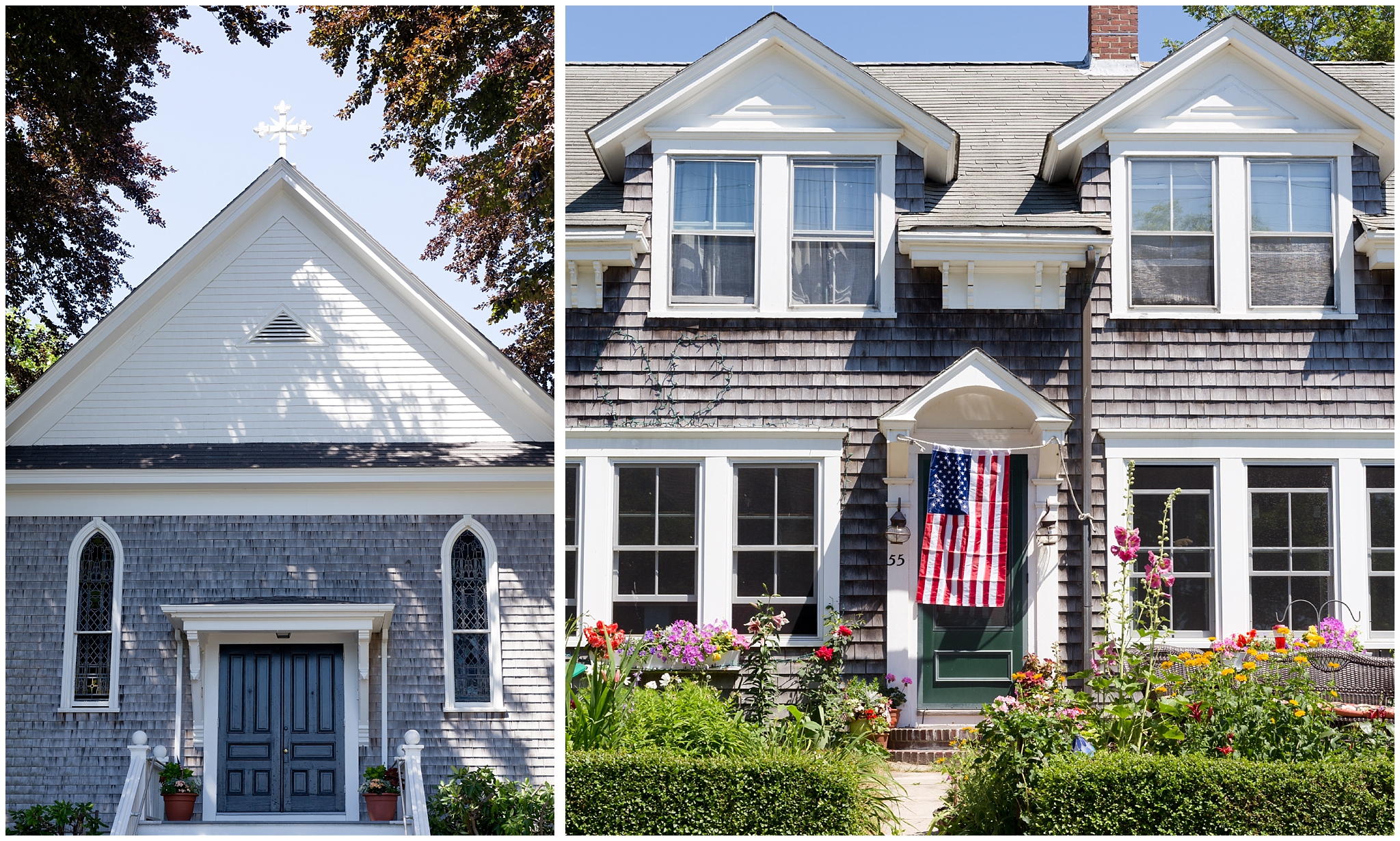 charming architecture in Woods Hole, Massachusetts