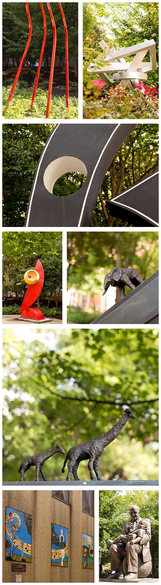 sculpture garden in Knoxville, Tennessee