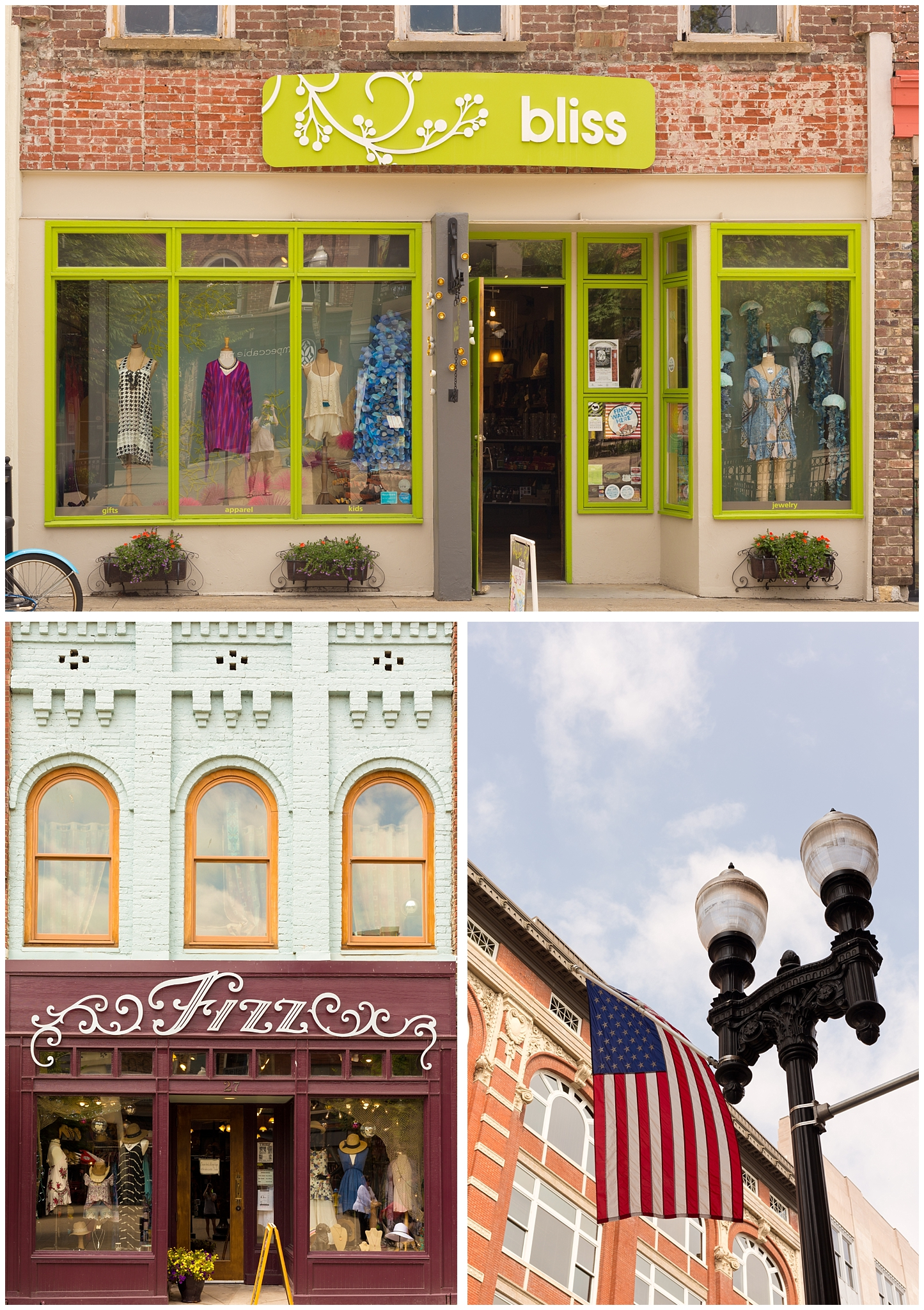 downtown Knoxville shopping (Bliss and Fizz boutiques)