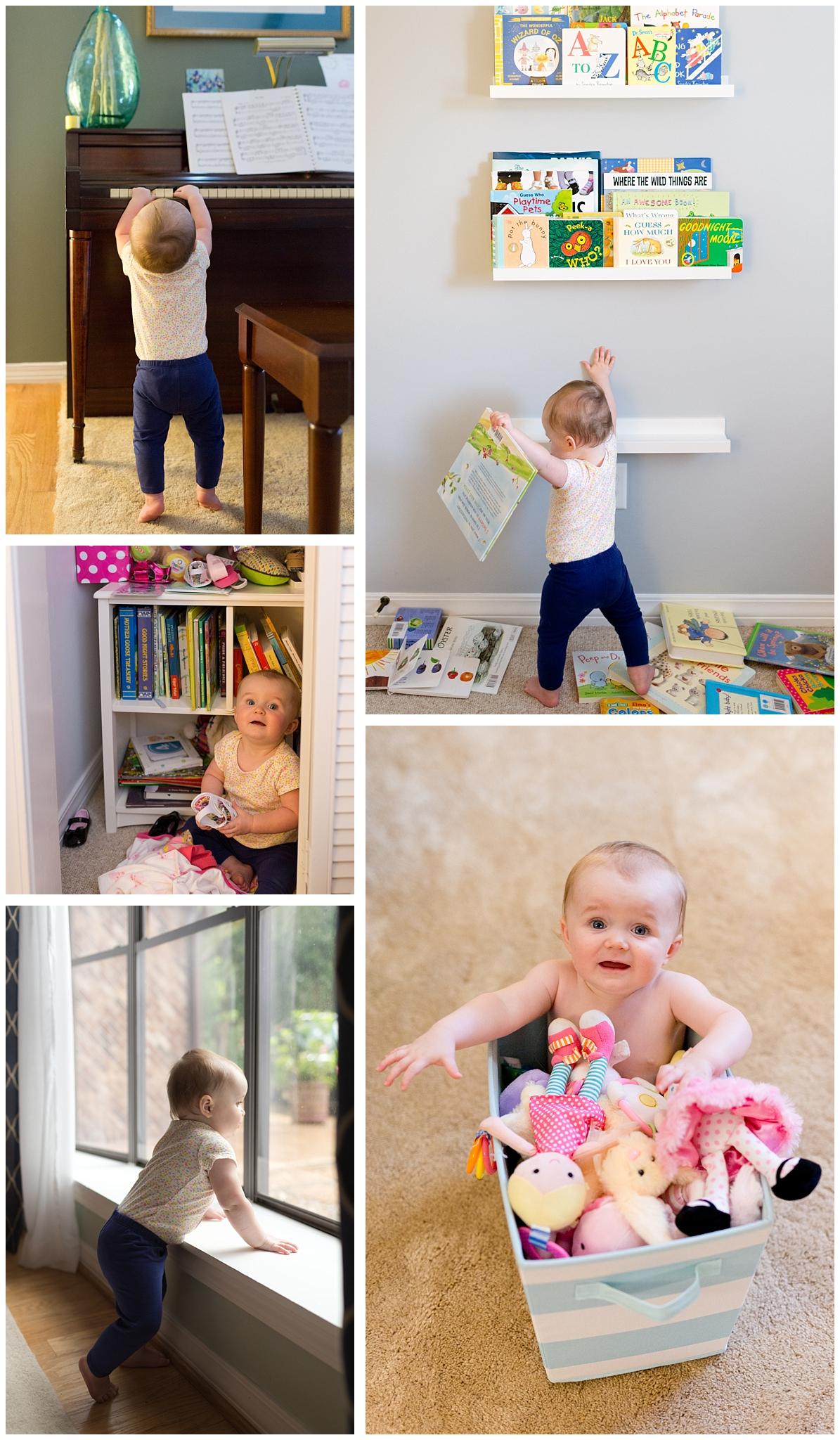 toddler girl playing at home