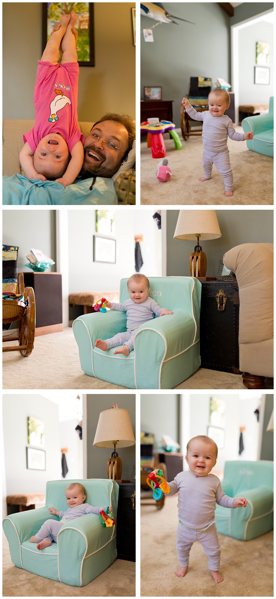 toddler girl with Pottery Barn chair